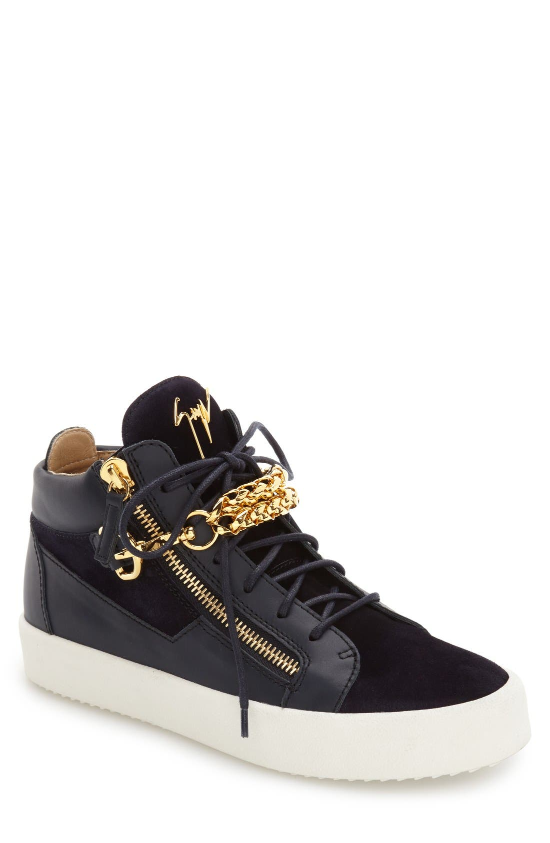 Chain Mid Top Sneaker,                         Main,                         color, 410