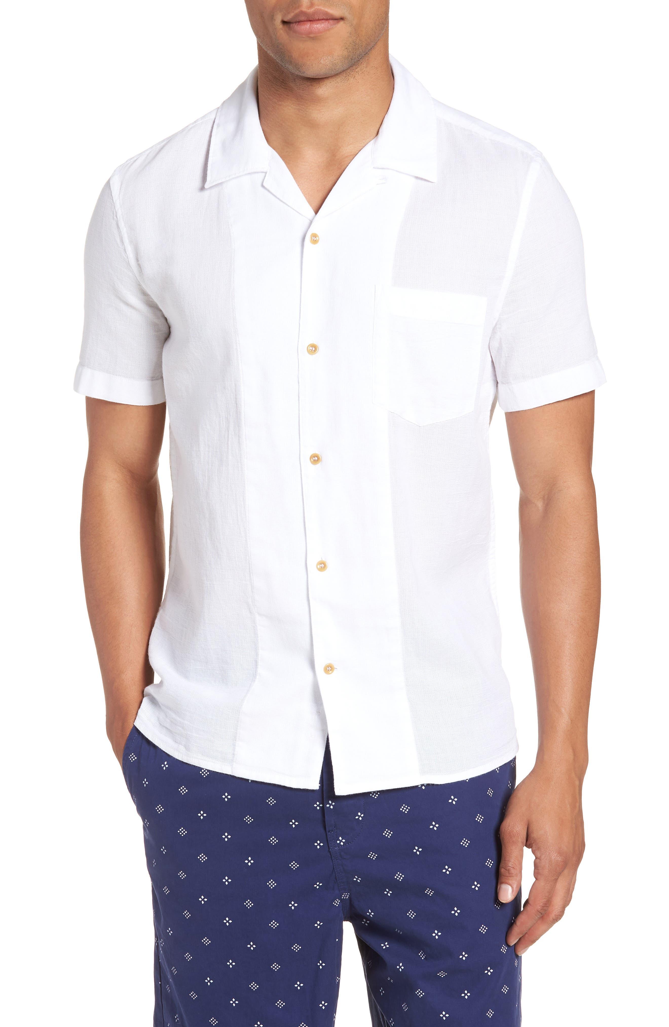 Regular Fit Textured Dobby Camp Shirt,                             Main thumbnail 1, color,                             100