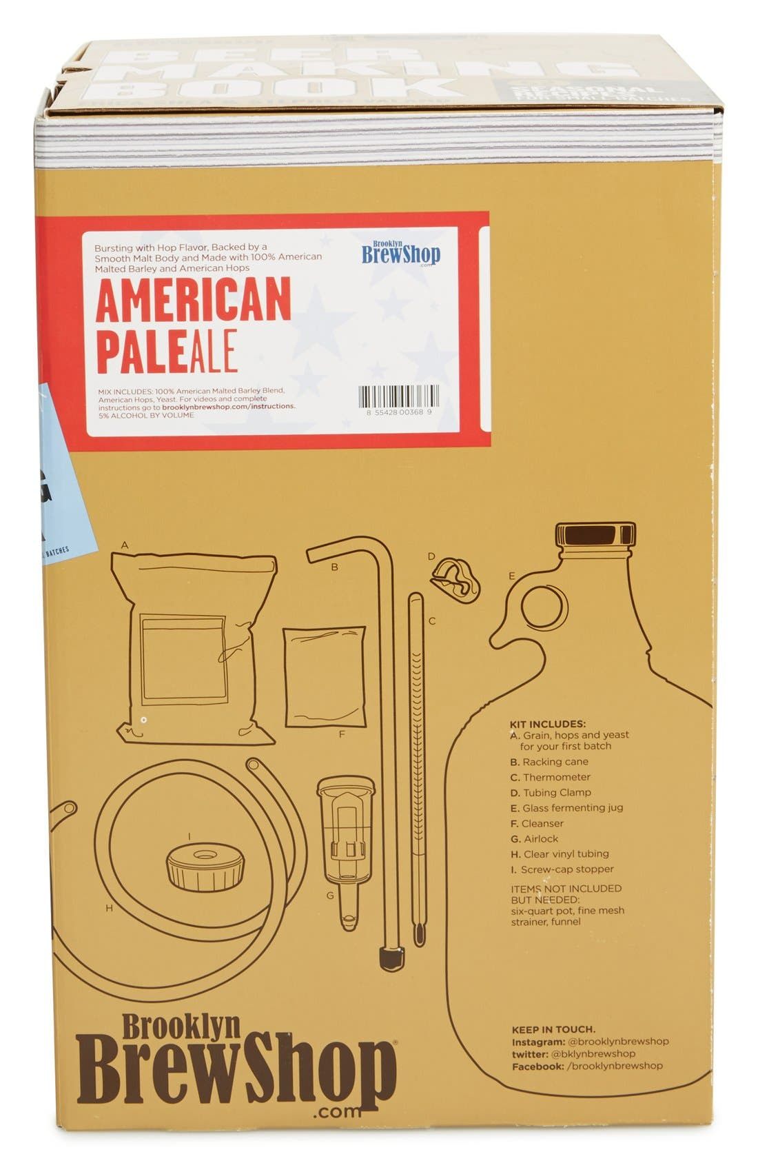 'American Pale Ale' One-Gallon Beer Making Kit with Recipe Book,                             Alternate thumbnail 3, color,                             400