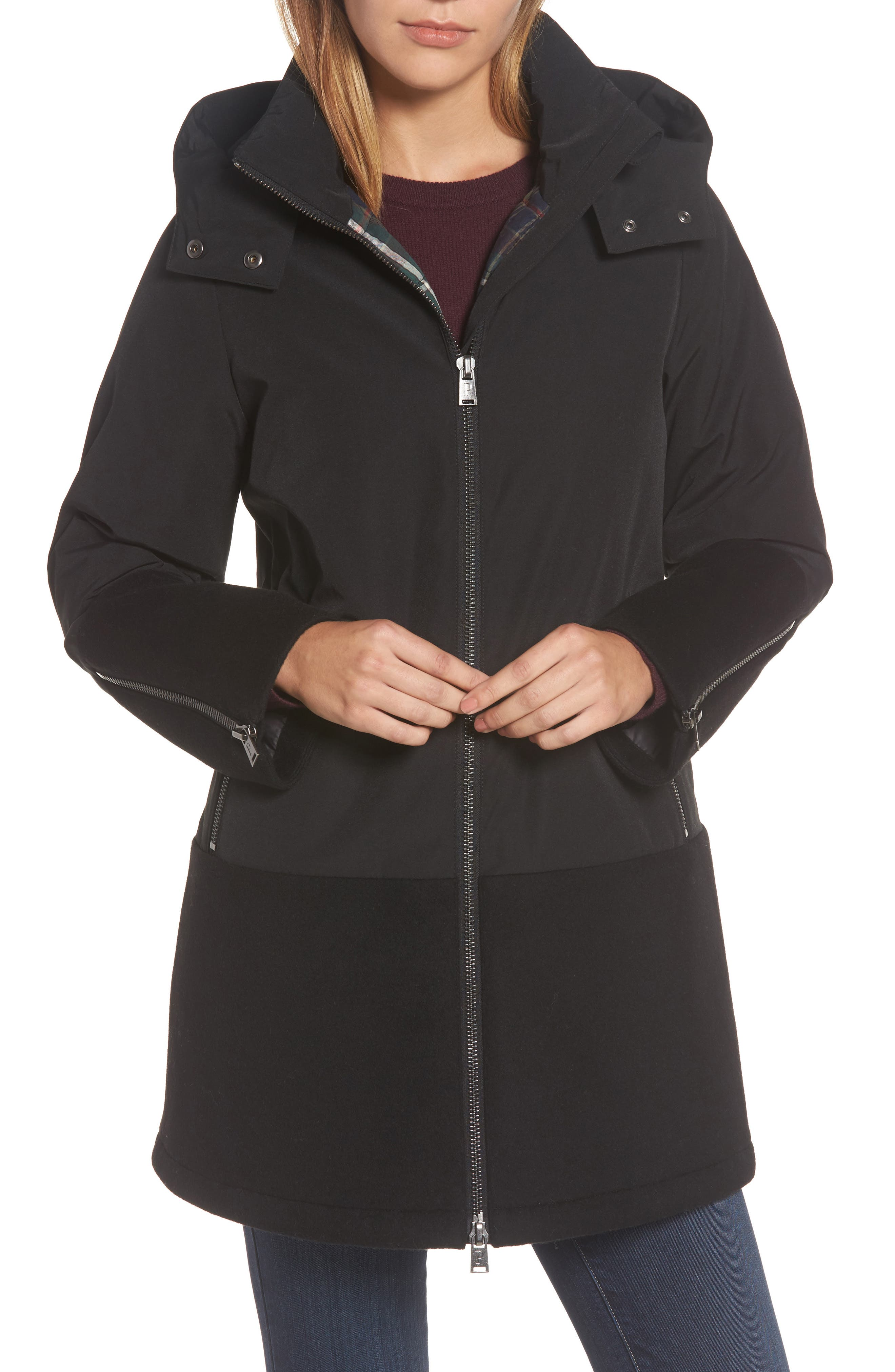 Bellevue Down & Feather Fill Parka,                         Main,                         color, 001