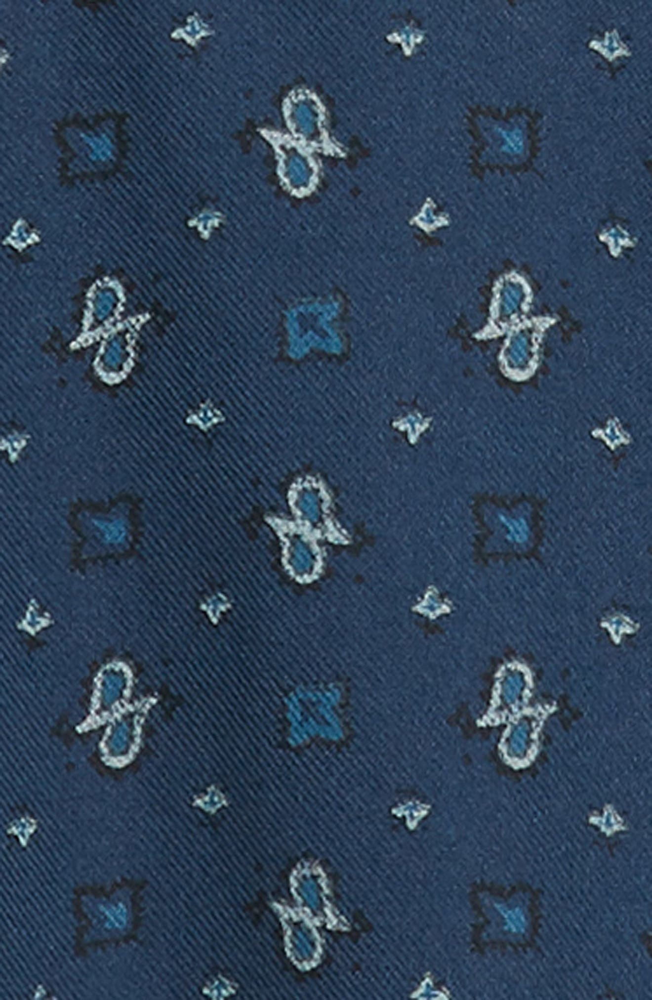 Regular Fit Paisley Western Shirt,                             Alternate thumbnail 6, color,                             BLUE CASPIA DESERT PAISLEY