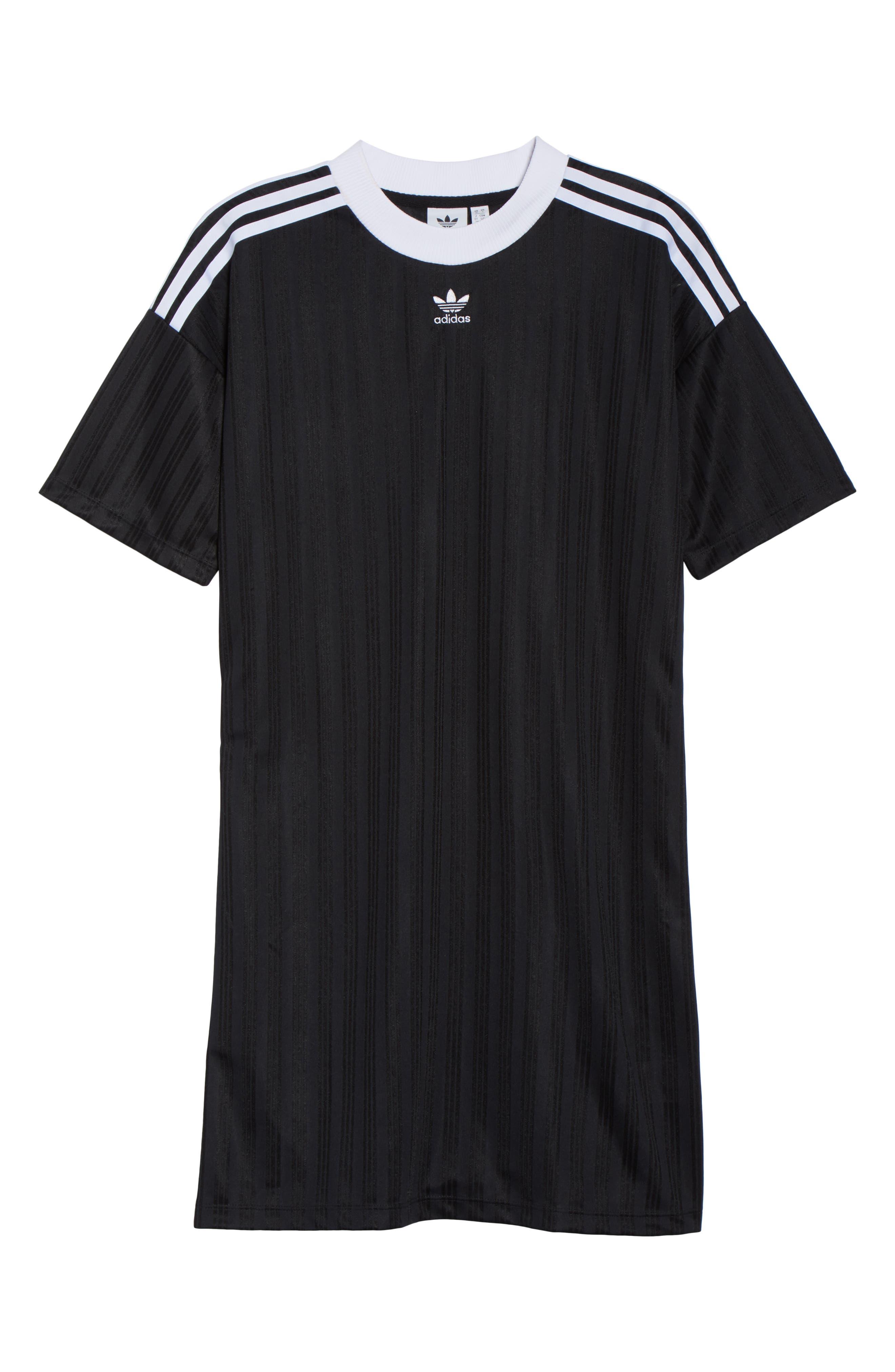 ADIDAS ORIGINALS,                             Trefoil T-Shirt Dress,                             Alternate thumbnail 8, color,                             001