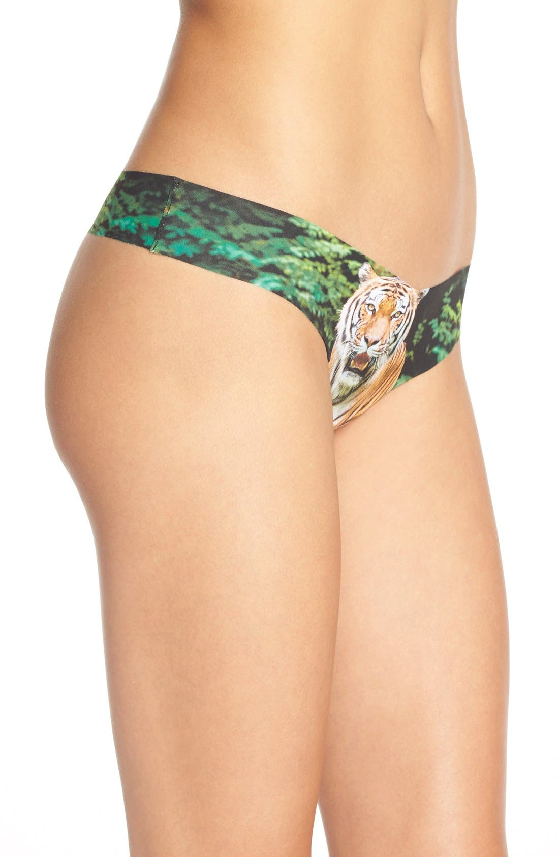 Print Microfiber Thong,                             Alternate thumbnail 280, color,