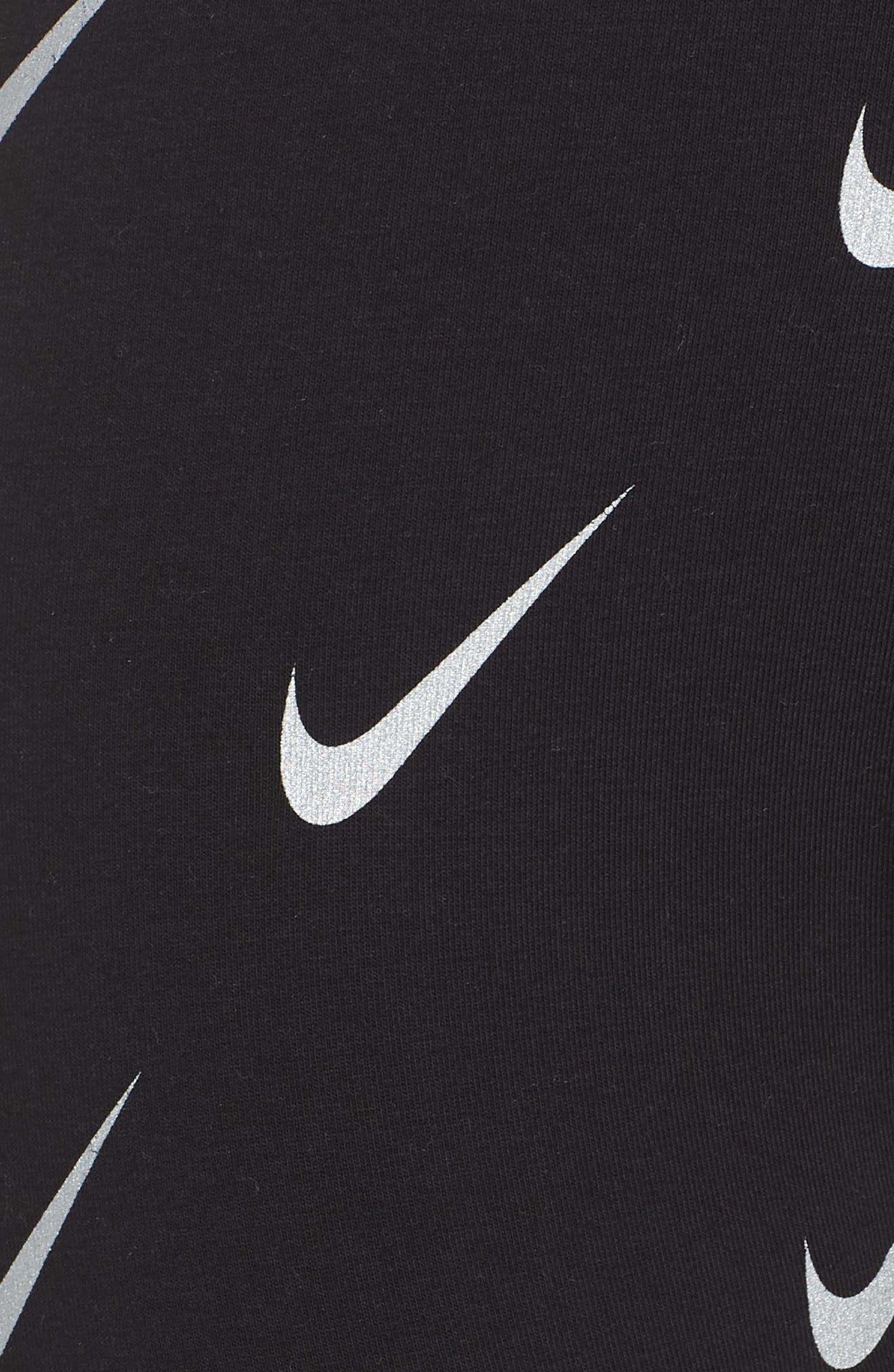 Sportswear Allover Print Logo Leggings,                             Alternate thumbnail 6, color,                             BLACK