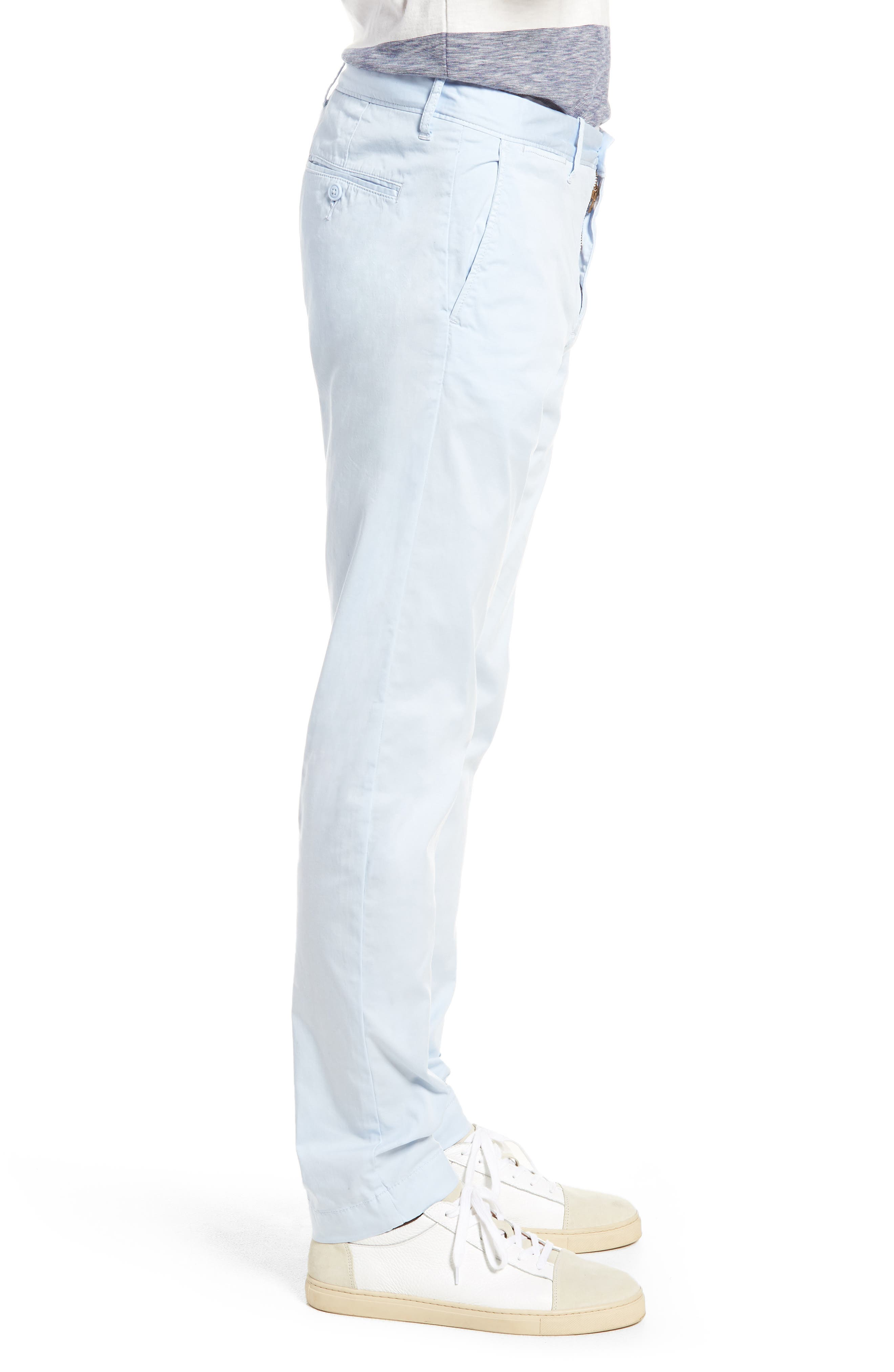 Slim Fit Garment Dyed Stretch Chinos,                             Alternate thumbnail 10, color,