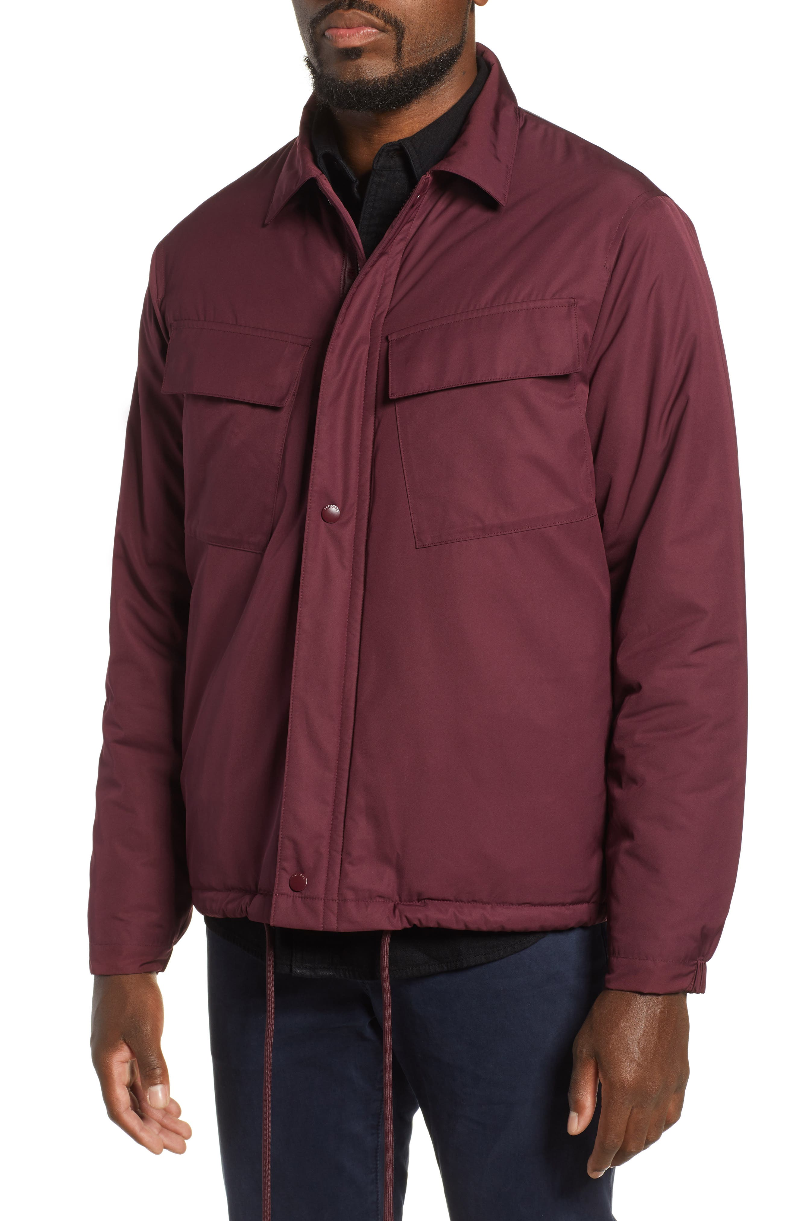 Coaches Jacket,                             Alternate thumbnail 4, color,                             BURGUNDY