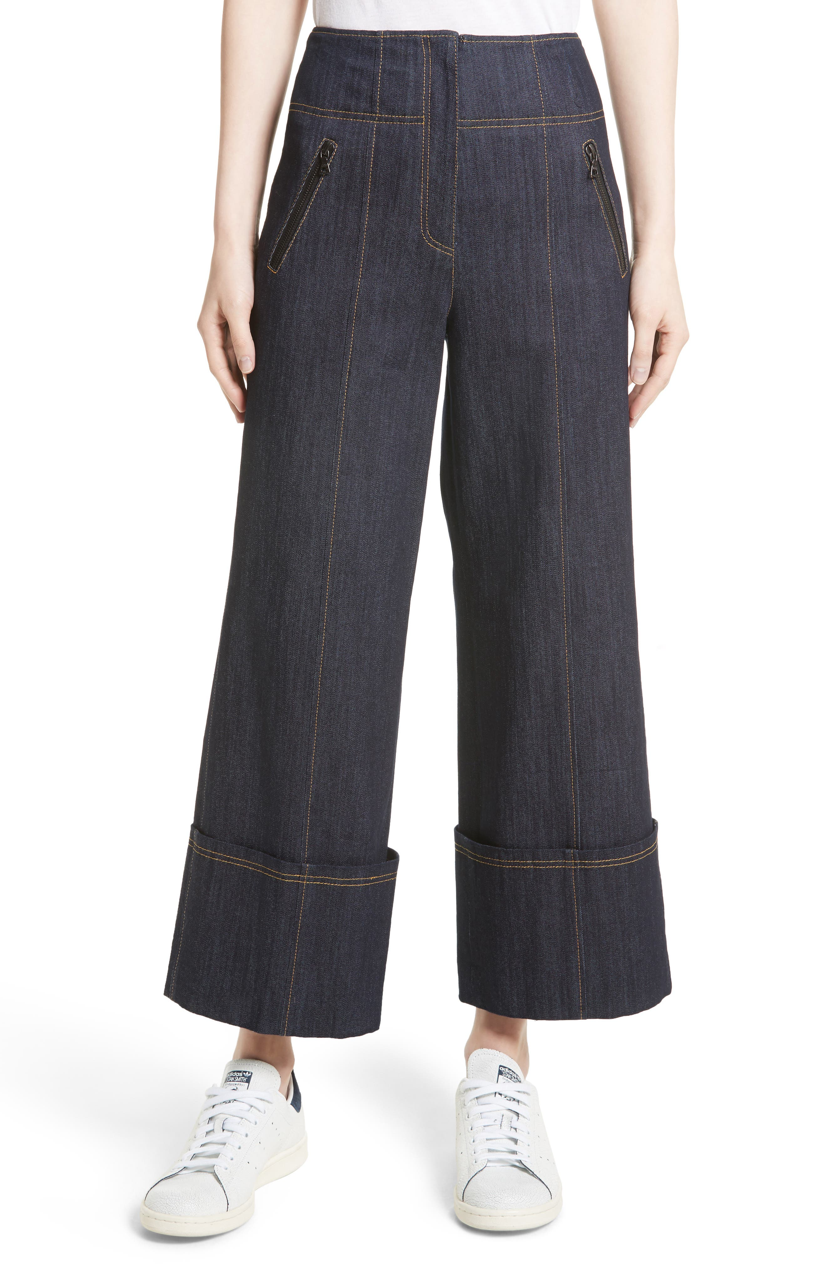 Marla Cuff Jeans,                         Main,                         color, 422