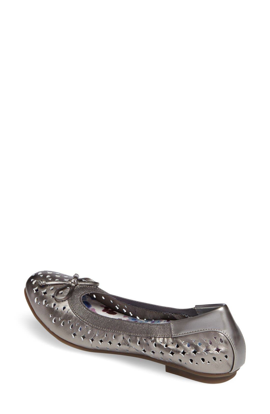 'Surin' Perforated Ballet Flat,                             Alternate thumbnail 8, color,