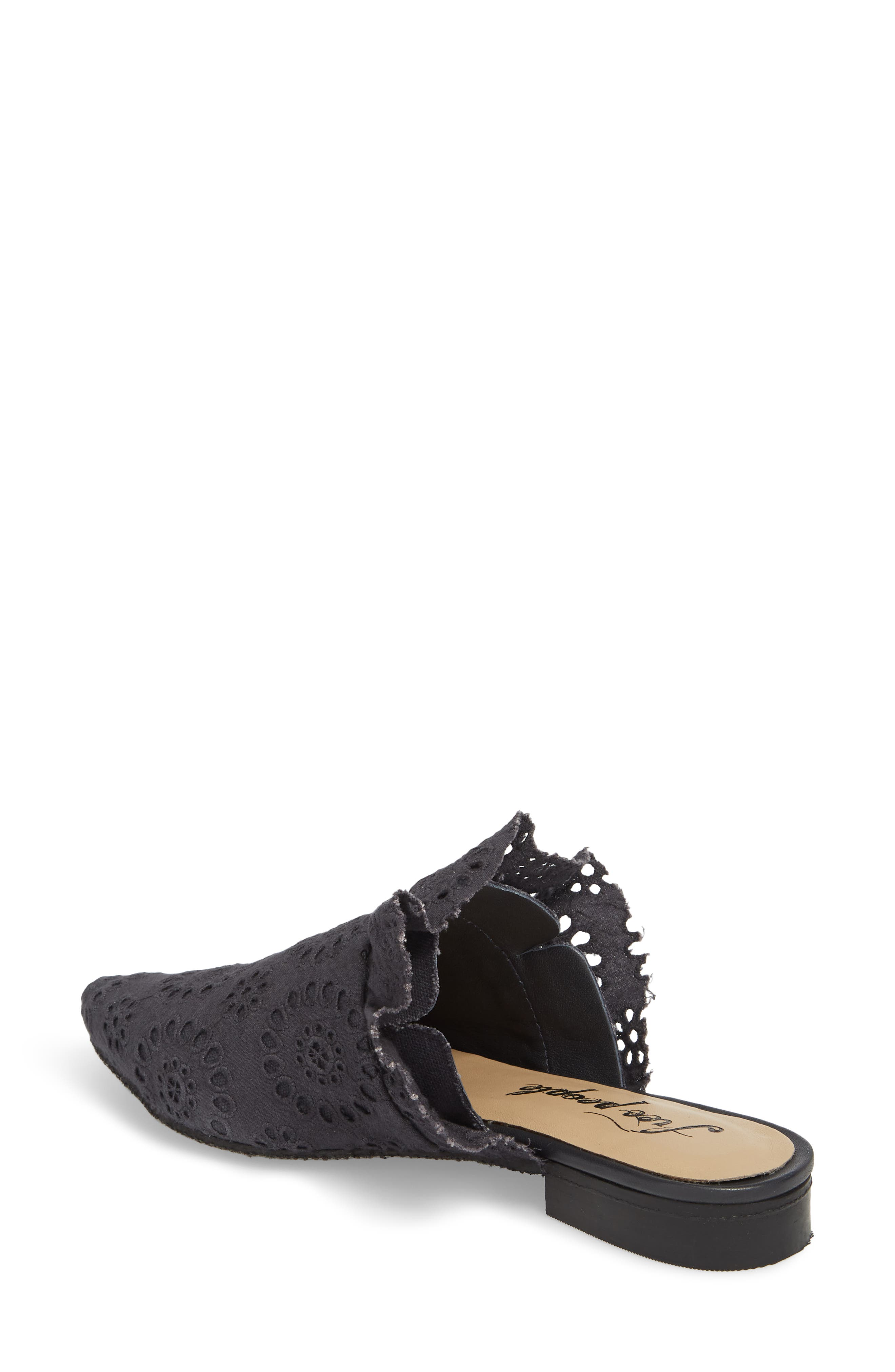 Eyelet Sienna Mule,                             Alternate thumbnail 2, color,                             BLACK
