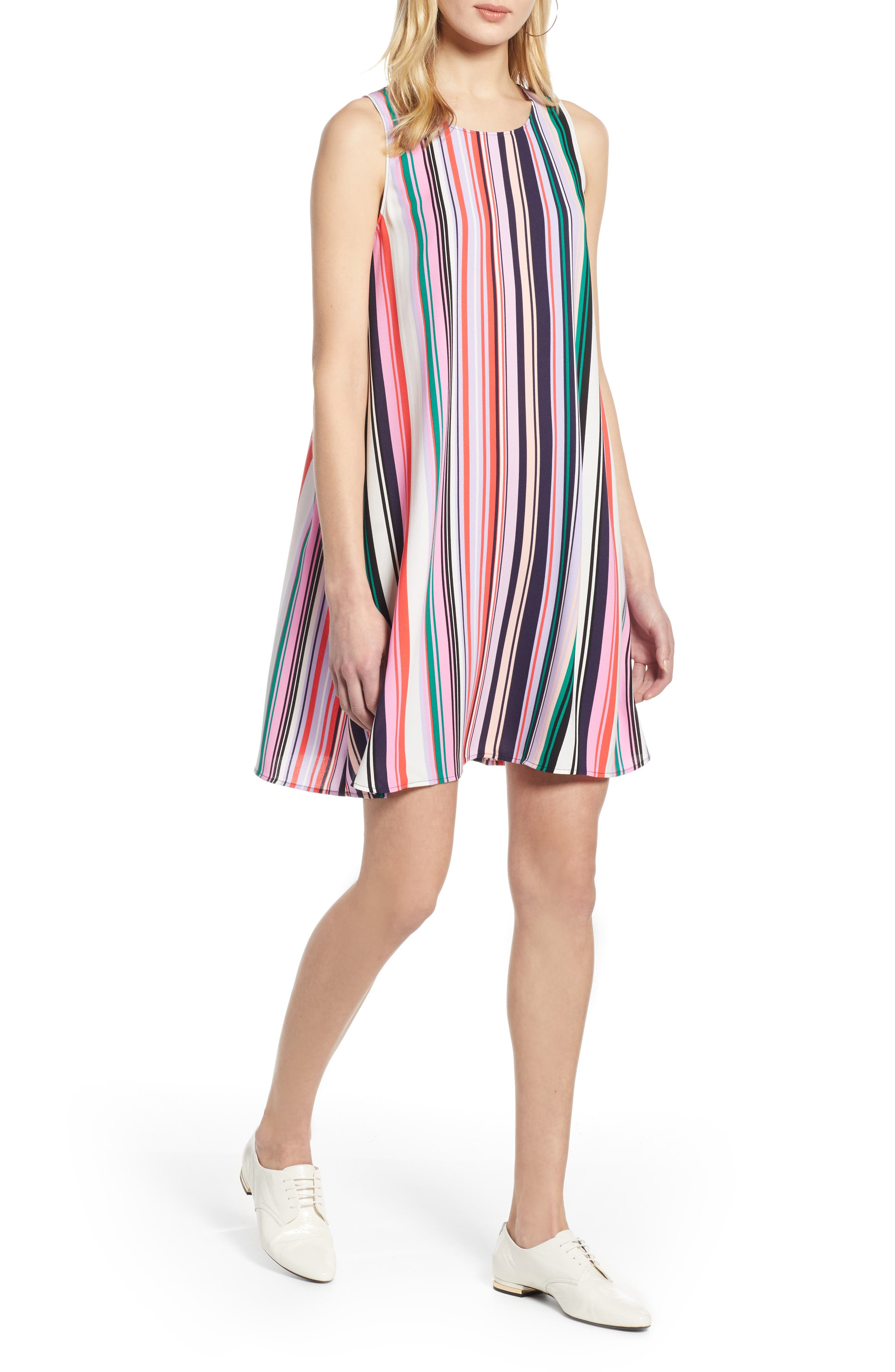 Halogen A-Line Dress, Pink