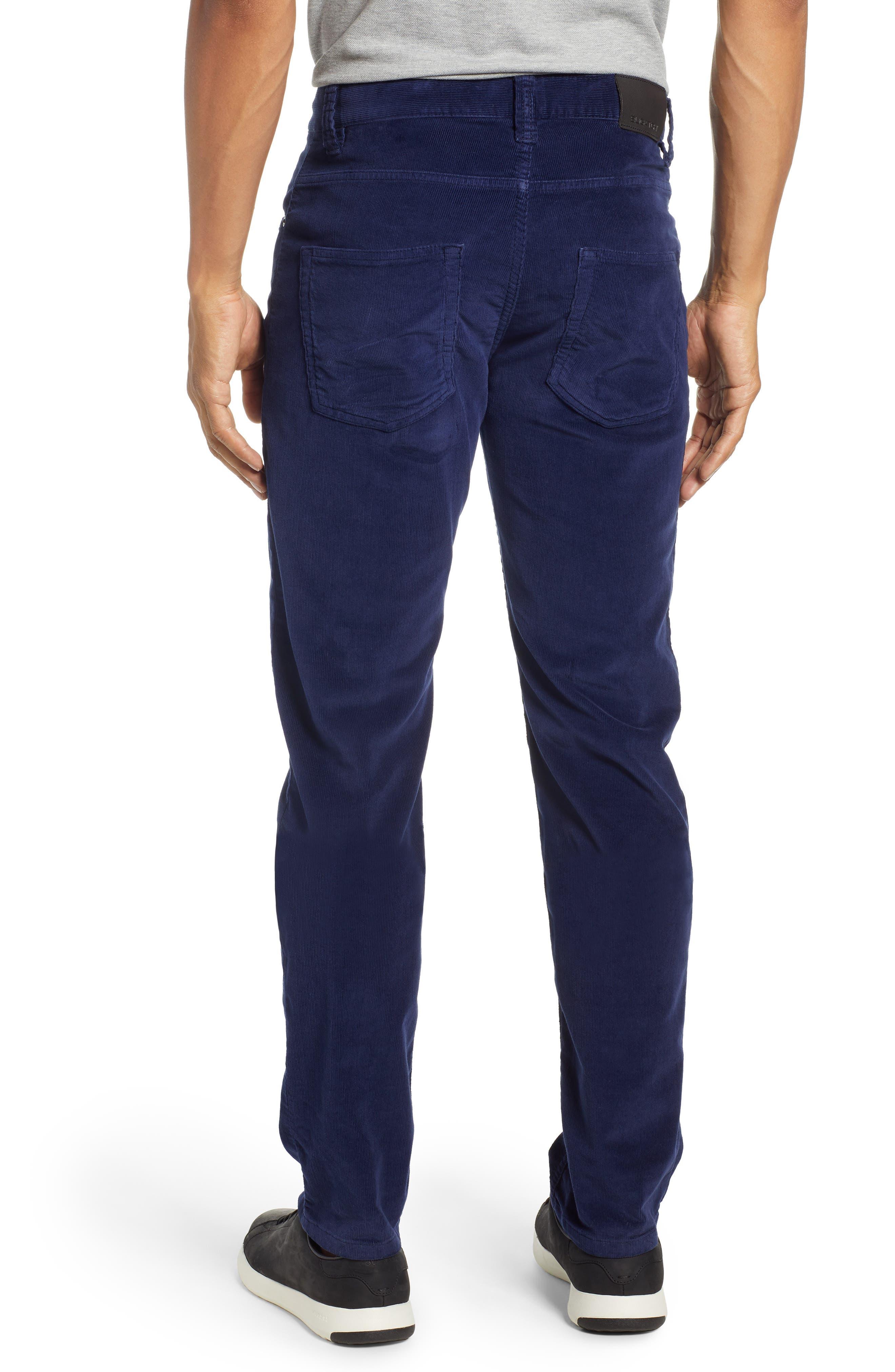 Slim Fit Corduroy Jeans,                             Alternate thumbnail 2, color,                             MIDNIGHT