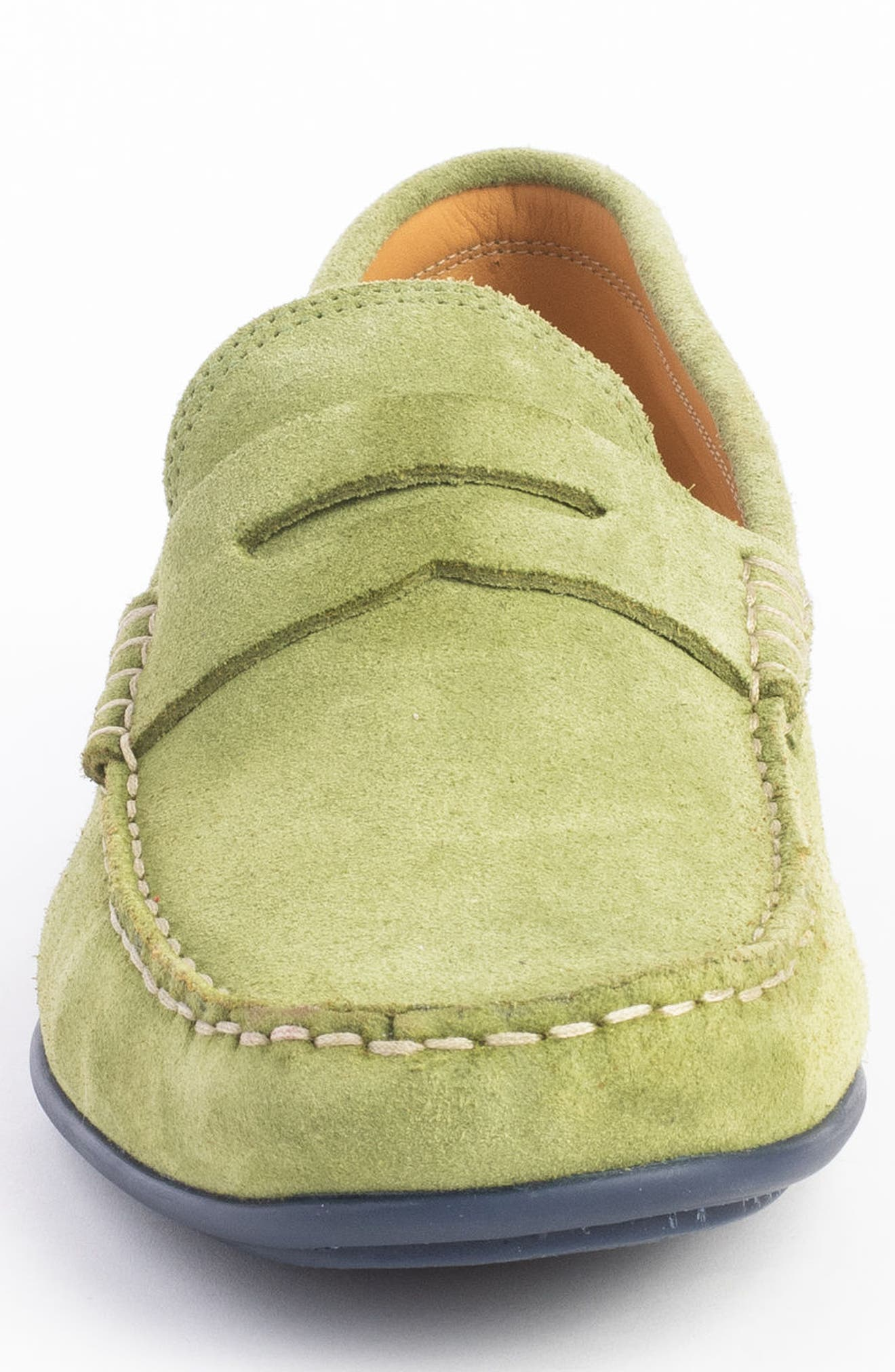 'Parkers' Penny Loafer,                             Alternate thumbnail 4, color,                             SPRING GREEN