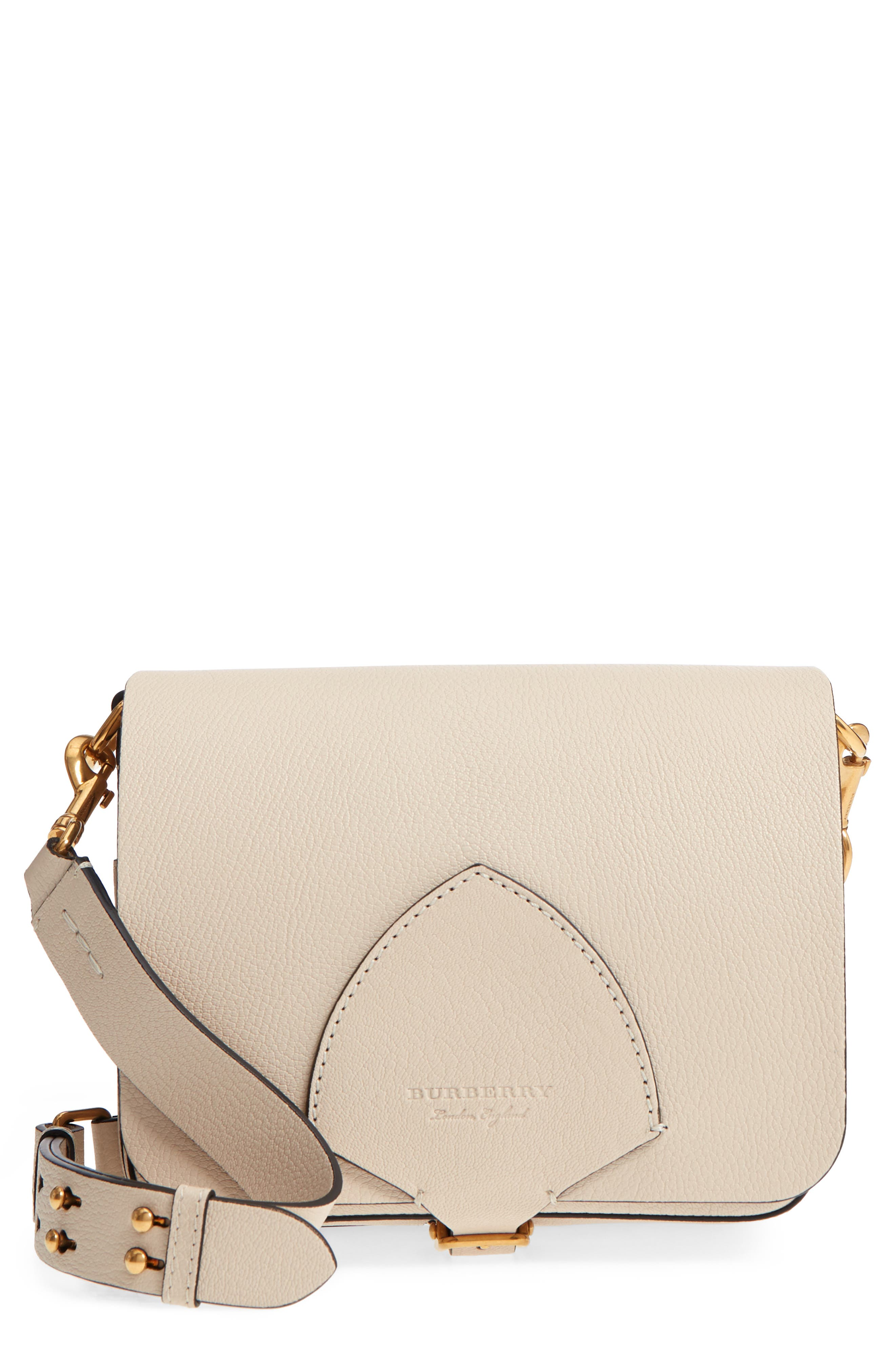 Square Leather Shoulder Bag,                             Main thumbnail 1, color,                             250