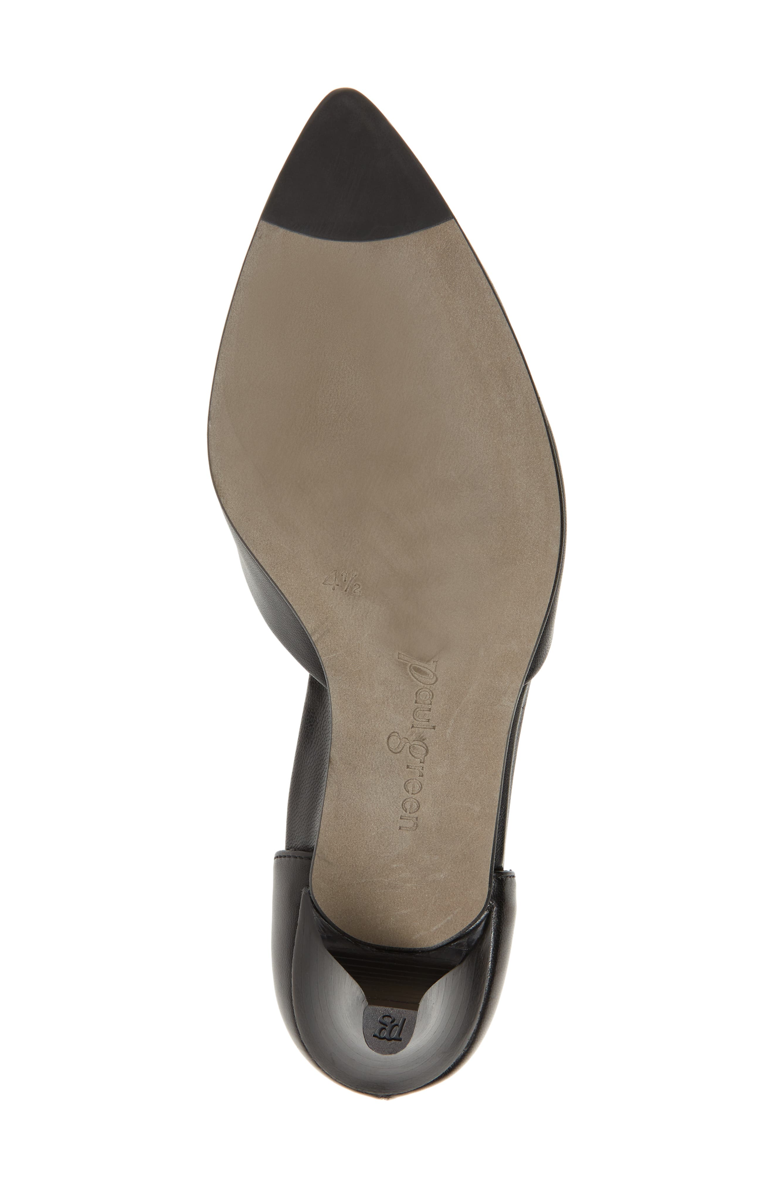 Shey Pointy Toe Pump,                             Alternate thumbnail 6, color,                             BLACK LEATHER