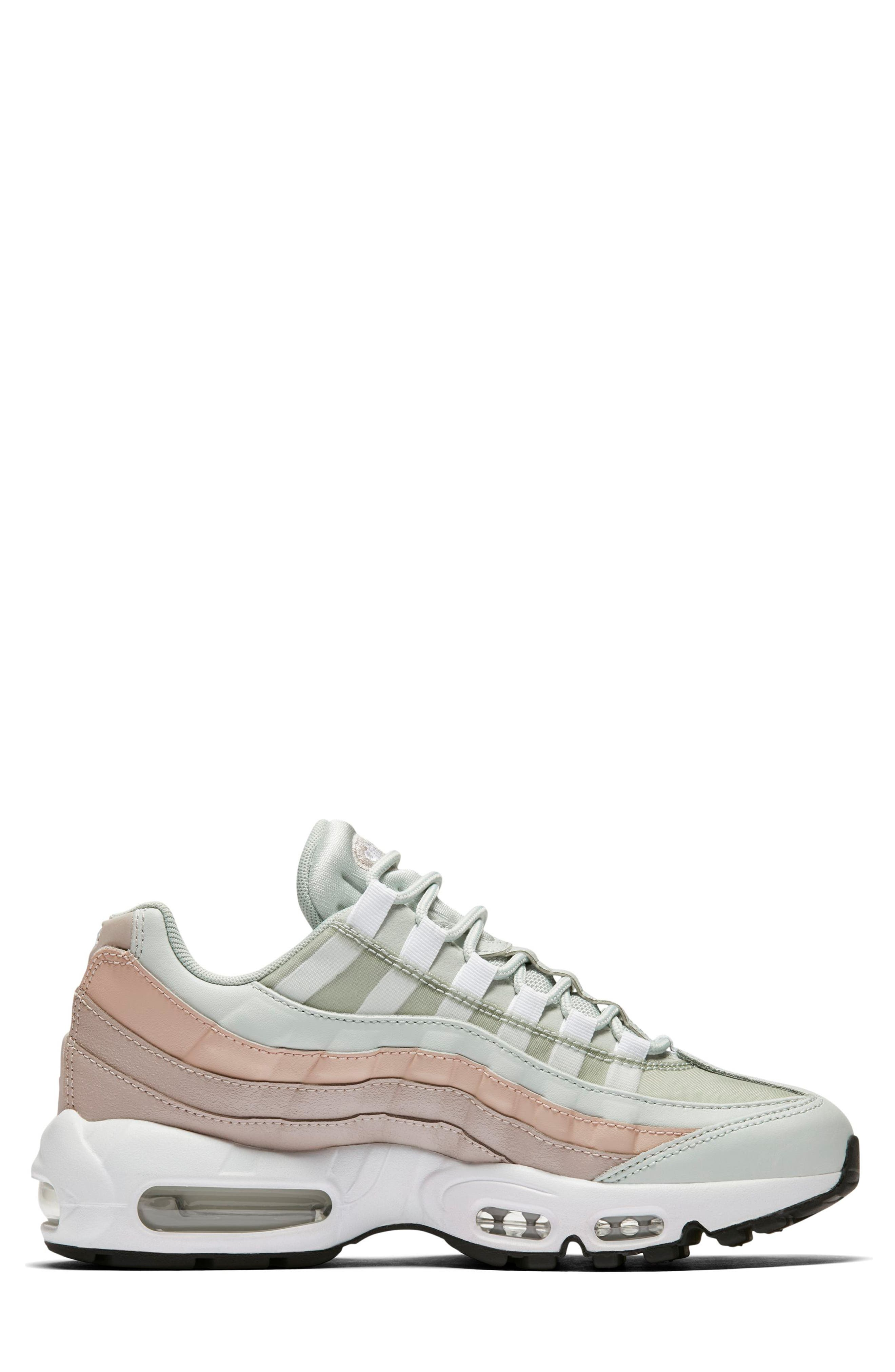 NIKE,                             Air Max 95 Running Shoe,                             Alternate thumbnail 6, color,                             SILVER/ WHITE/ MOON PARTICLE