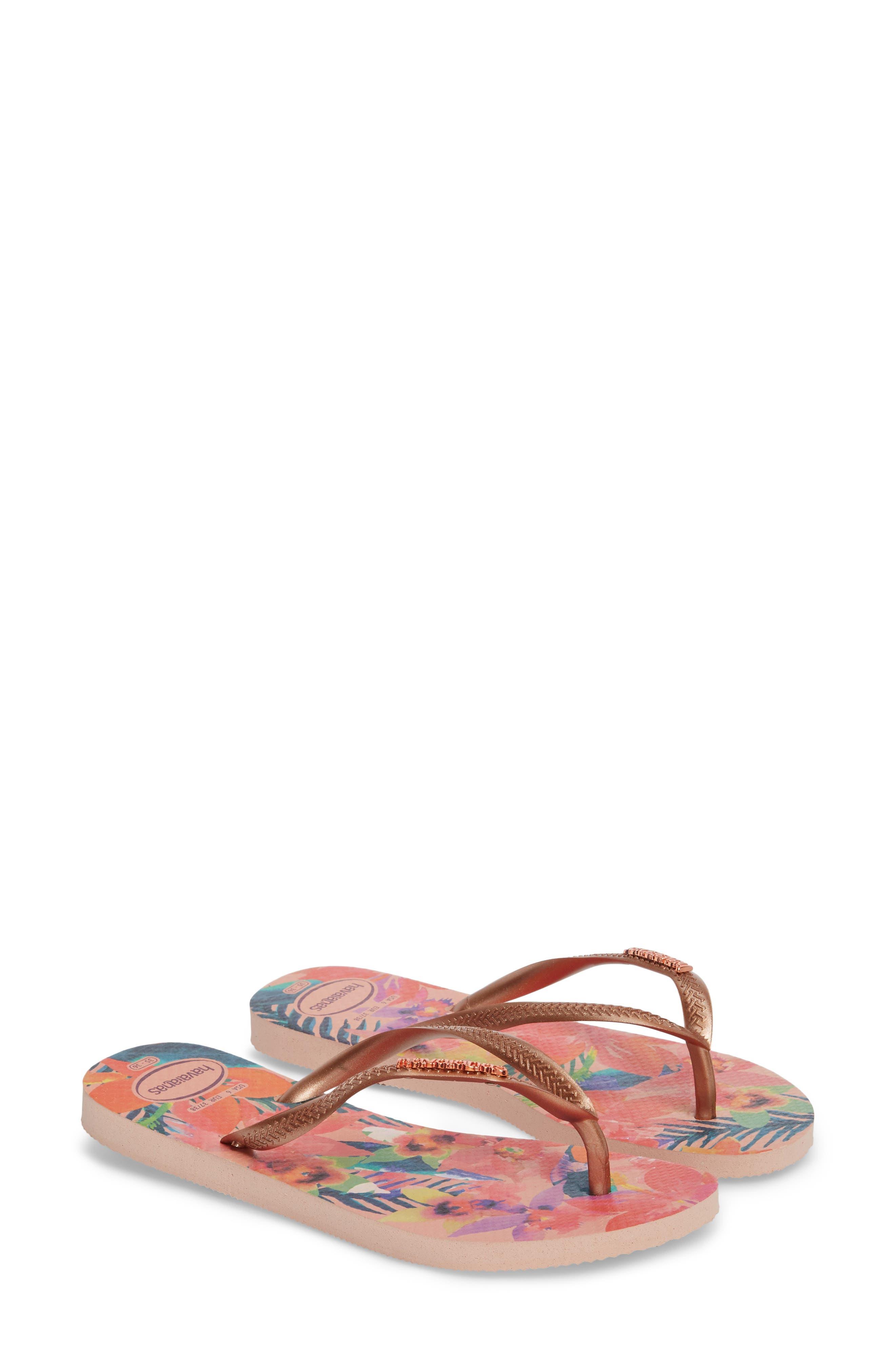 'Slim Tropical' Flip Flop,                             Alternate thumbnail 2, color,                             BALLET ROSE