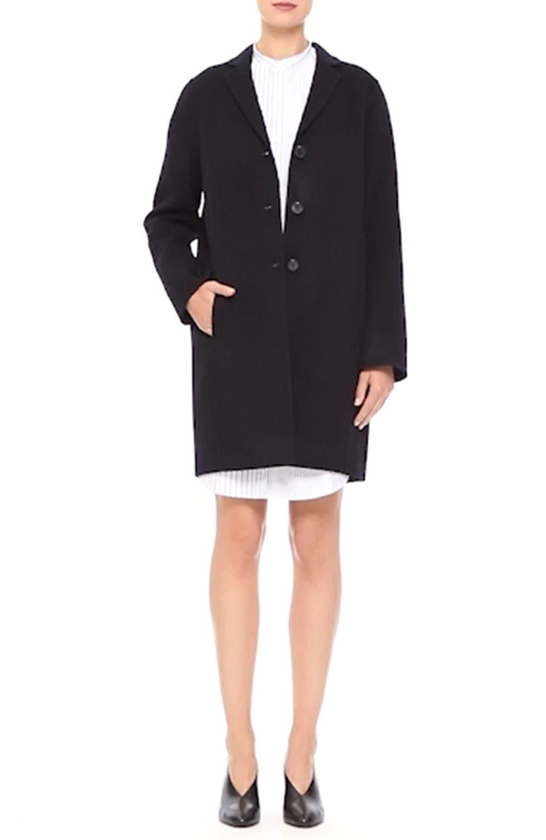 Elsa Double Wool & Cashmere Cocoon Coat,                             Alternate thumbnail 6, color,                             410