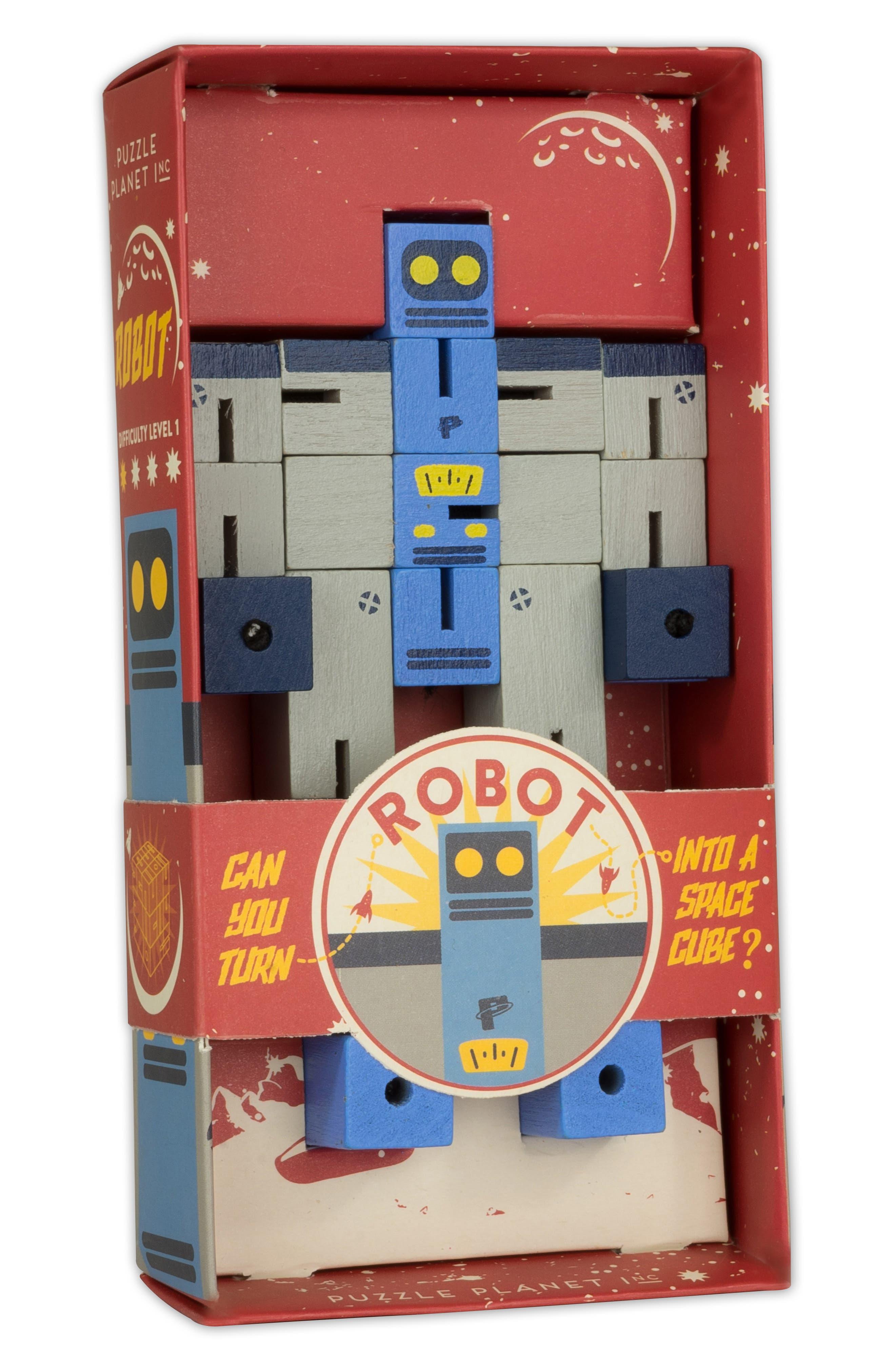Planet Robot Puzzle,                             Alternate thumbnail 2, color,                             GREY