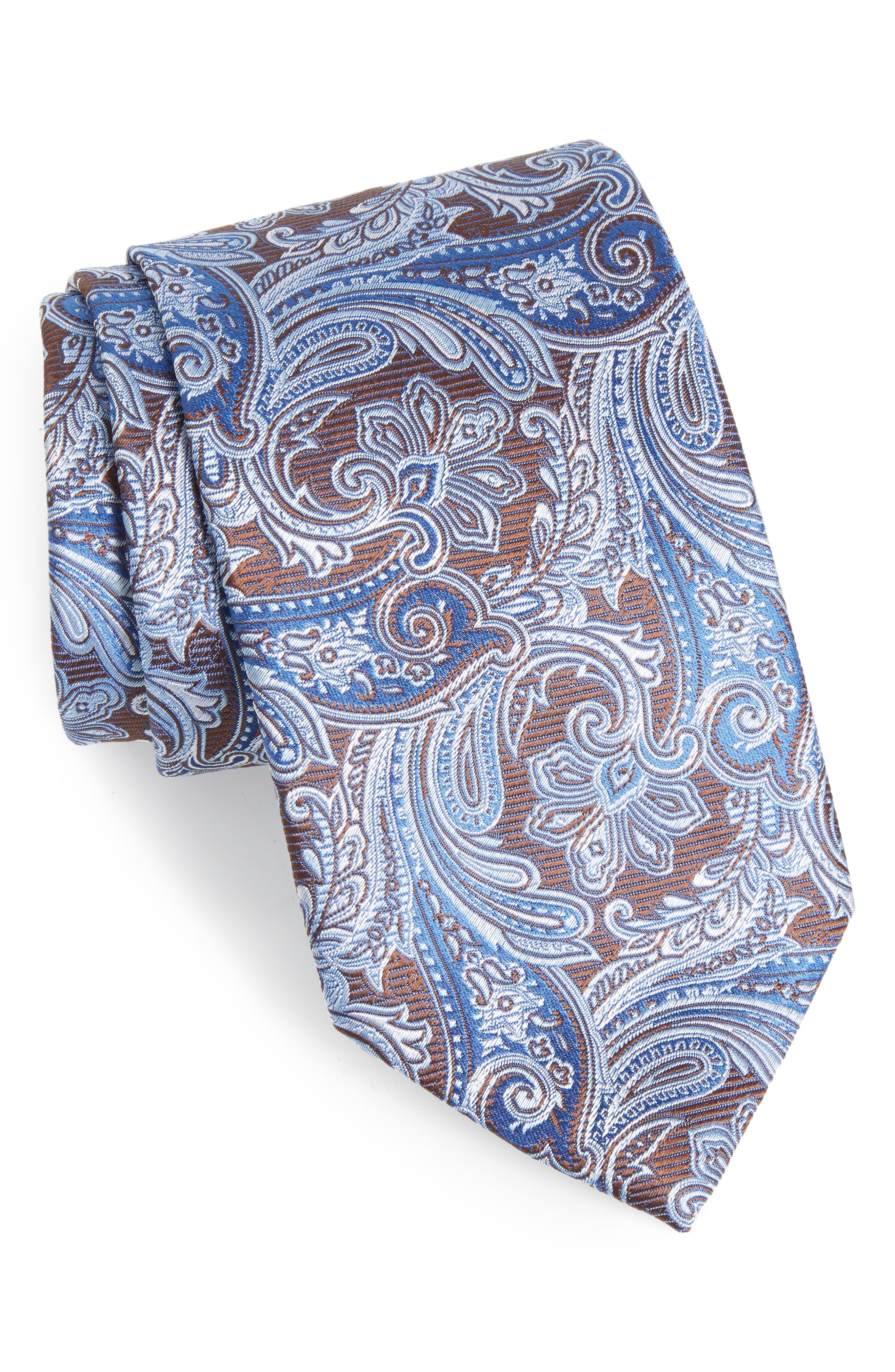 Paisley Silk Tie,                             Main thumbnail 1, color,                             200