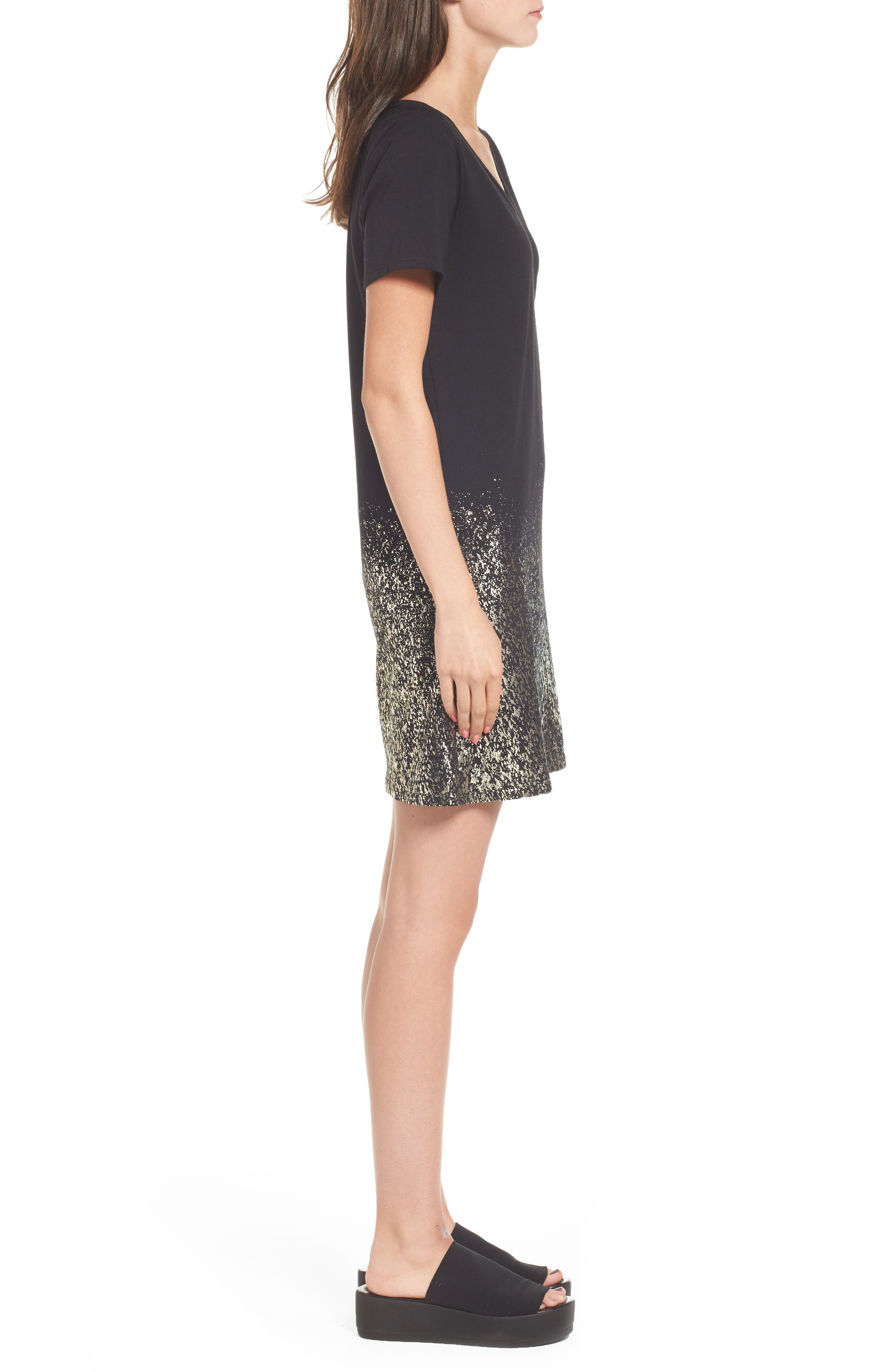 Foil Detail T-Shirt Dress,                             Alternate thumbnail 7, color,