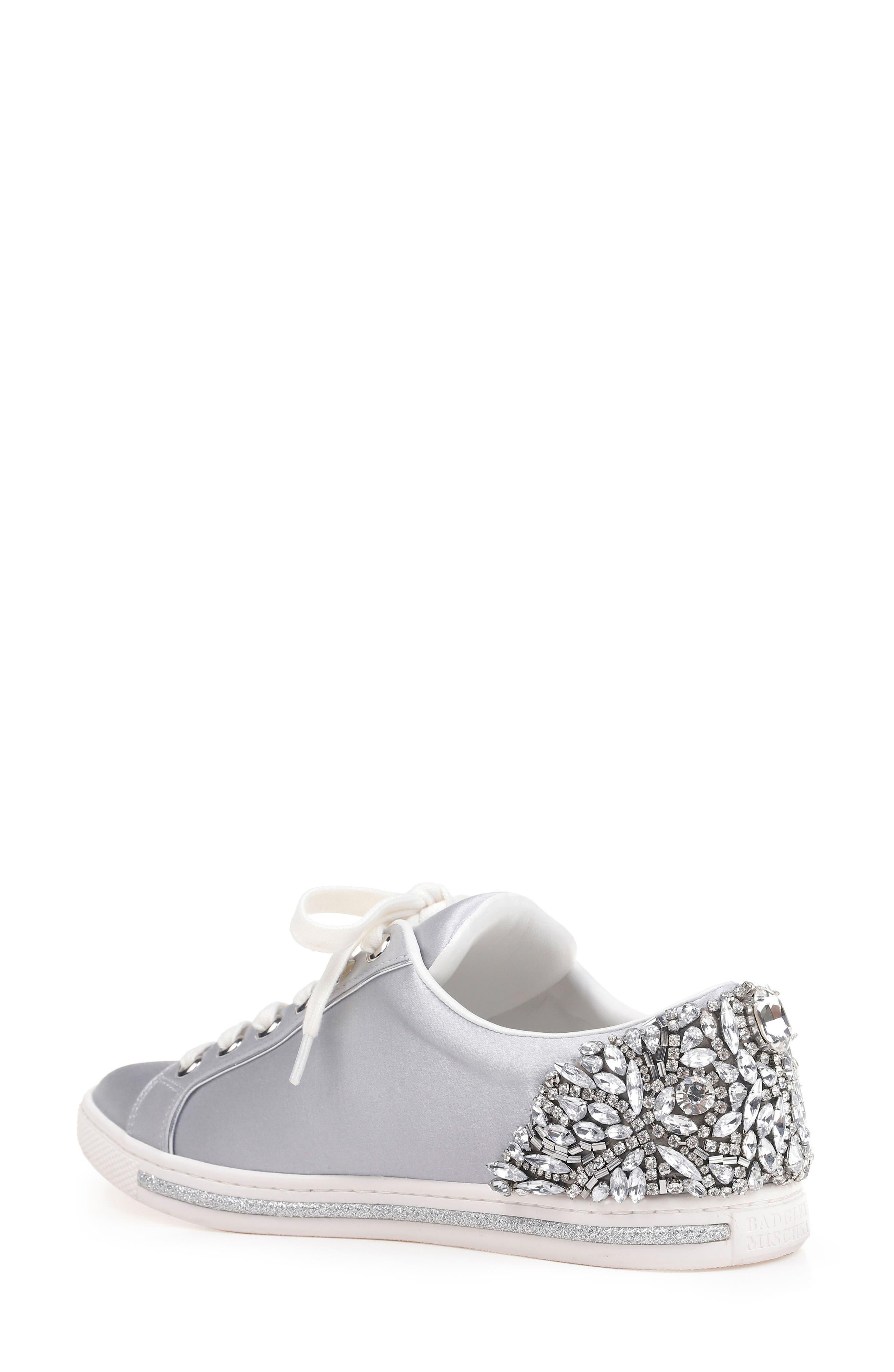 Badgley Mischka Shirley Crystal Embellished Sneaker,                             Alternate thumbnail 2, color,                             045