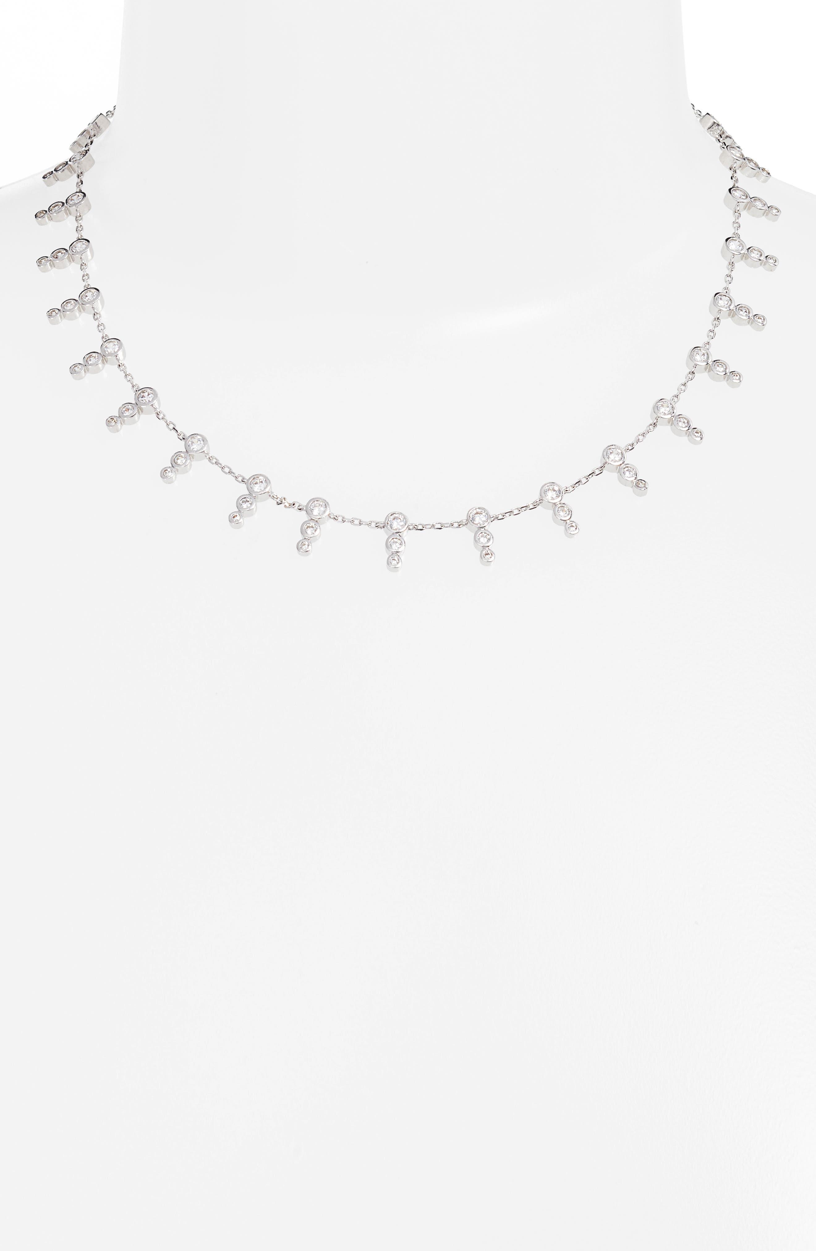 McPhee Cubic Zirconia Collar Necklace,                             Alternate thumbnail 2, color,                             041