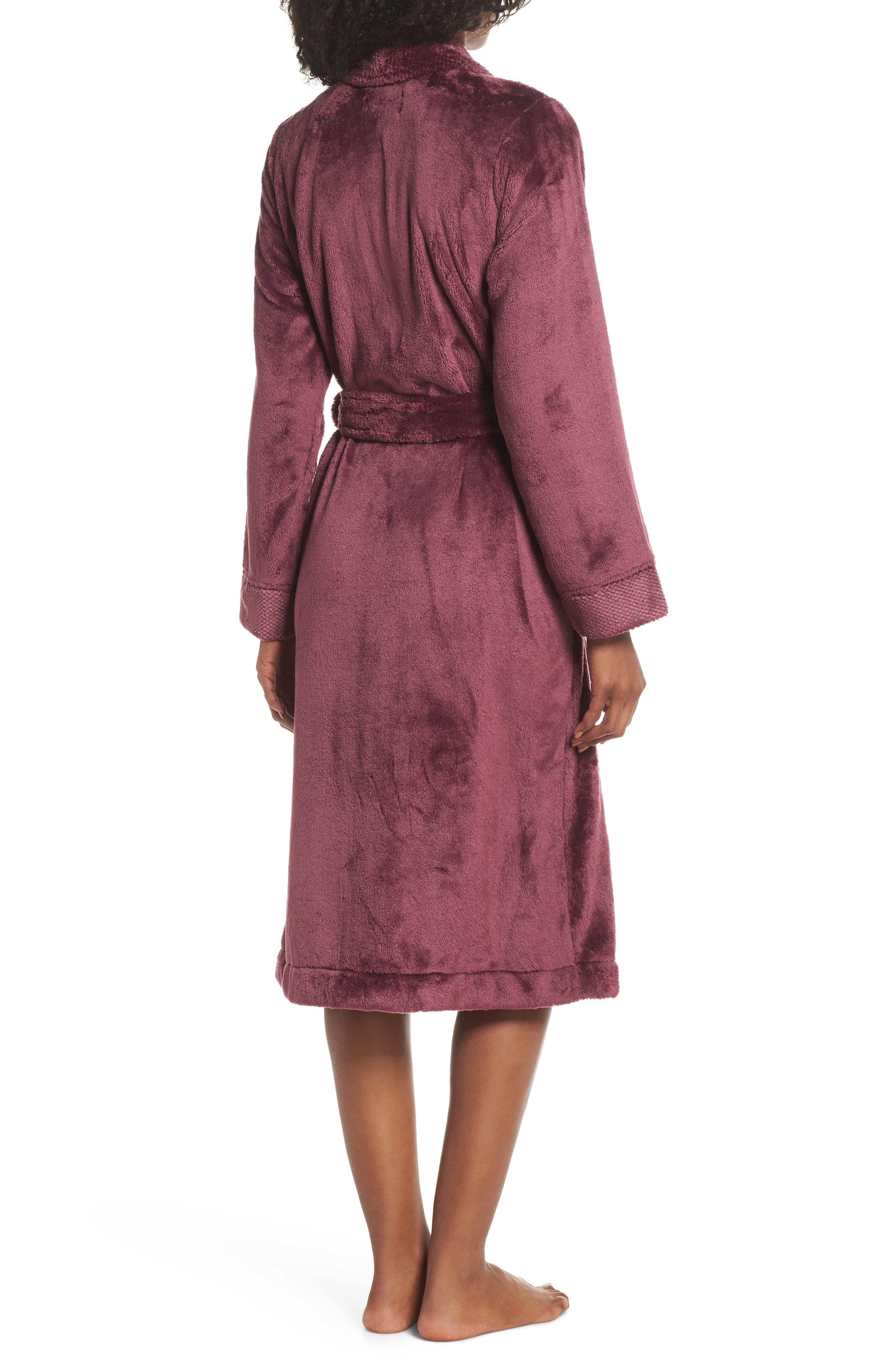 Nordstrom So Soft Plush Robe,                             Alternate thumbnail 2, color,                             PURPLE CRUSH