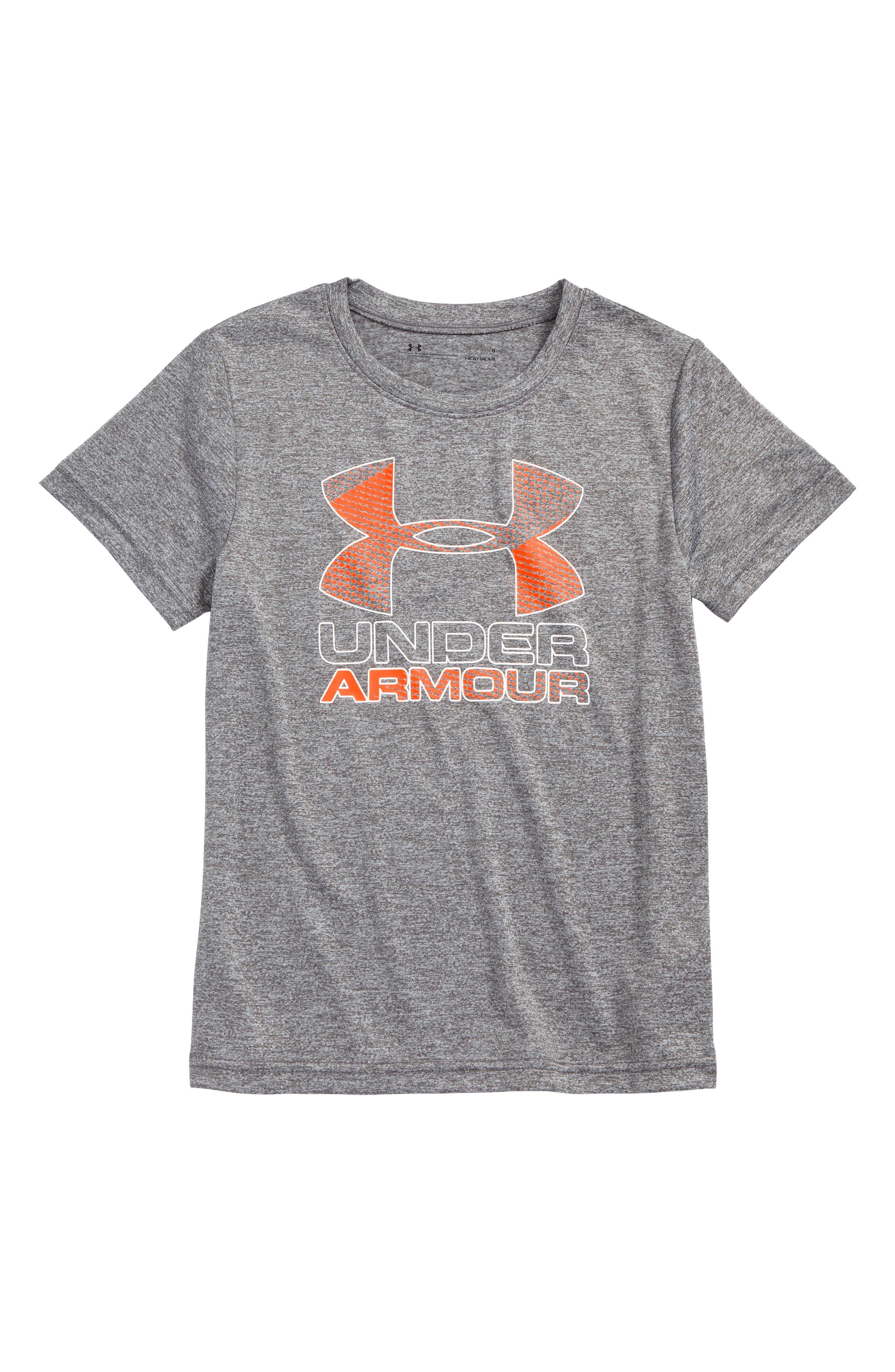 Big Logo Hybrid 2.0 HeatGear<sup>®</sup> T-Shirt,                             Main thumbnail 1, color,