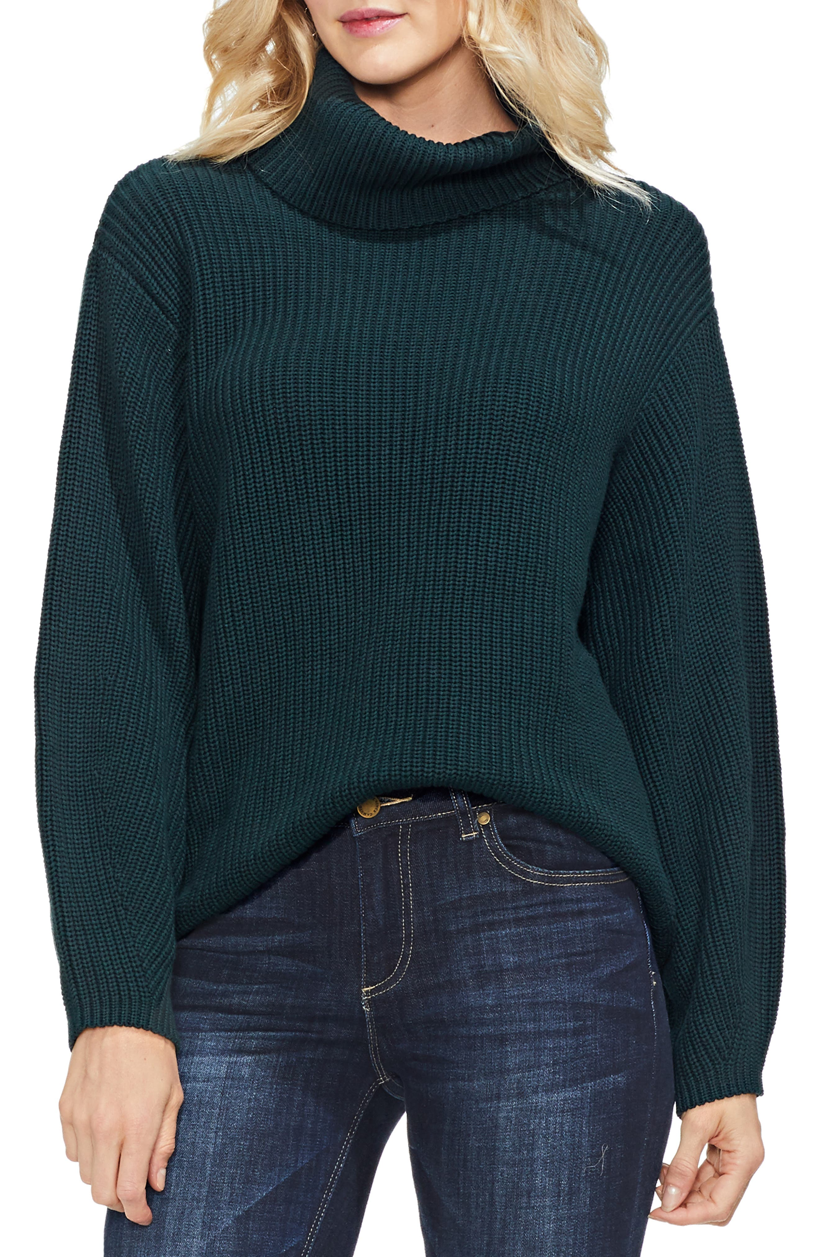 Slouchy Turtleneck Sweater,                             Main thumbnail 1, color,                             313