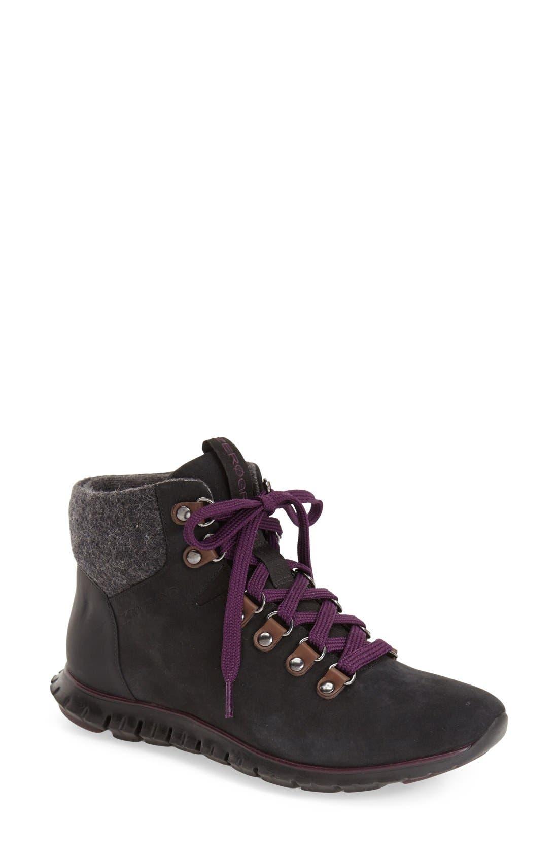 'ZerøGrand' Waterproof Hiking Boot, Main, color, 001