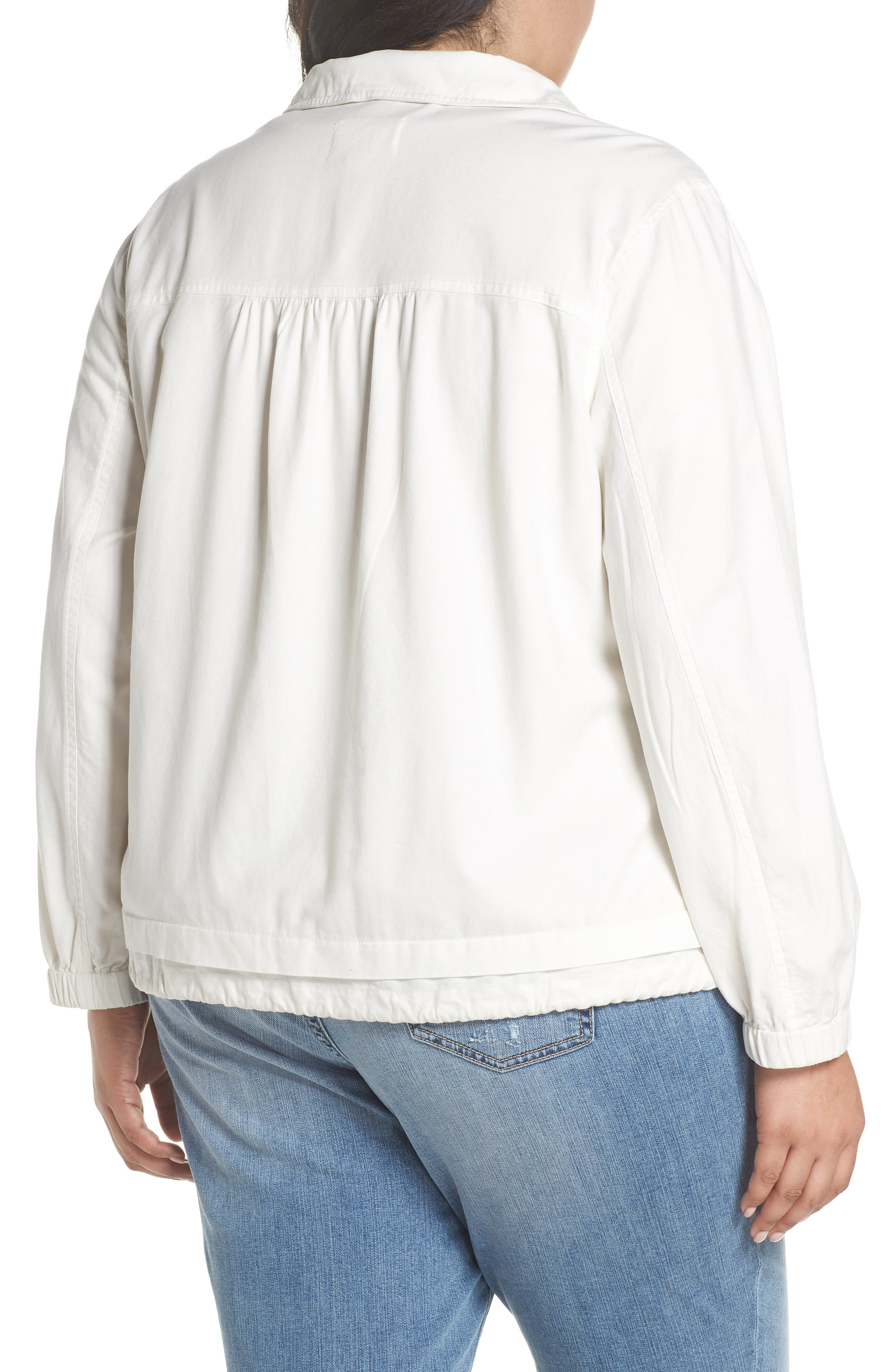 Snap Pocket Utility Jacket,                             Alternate thumbnail 2, color,                             WHITE SNOW