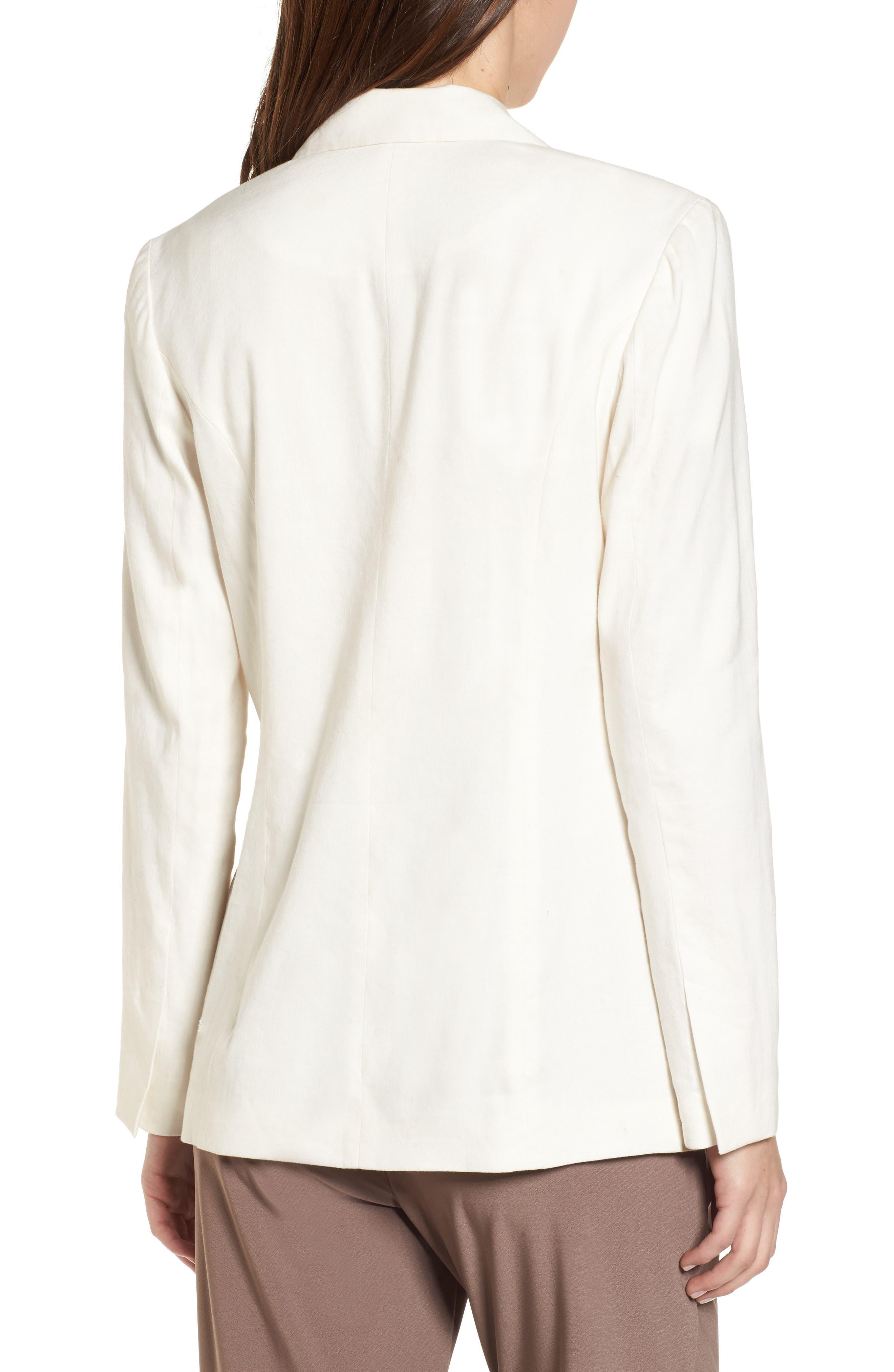 Double Breasted Linen Blend Blazer,                             Alternate thumbnail 11, color,