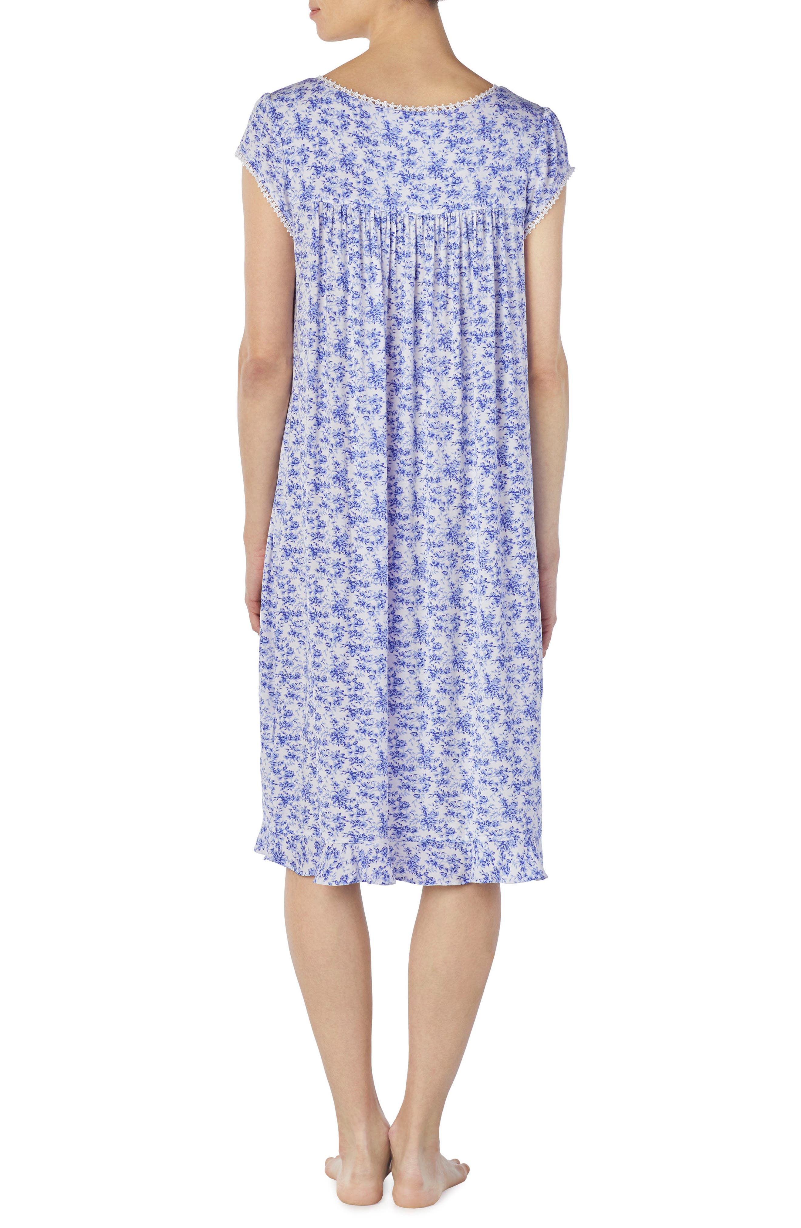 Floral Print Nightgown,                             Alternate thumbnail 2, color,                             570