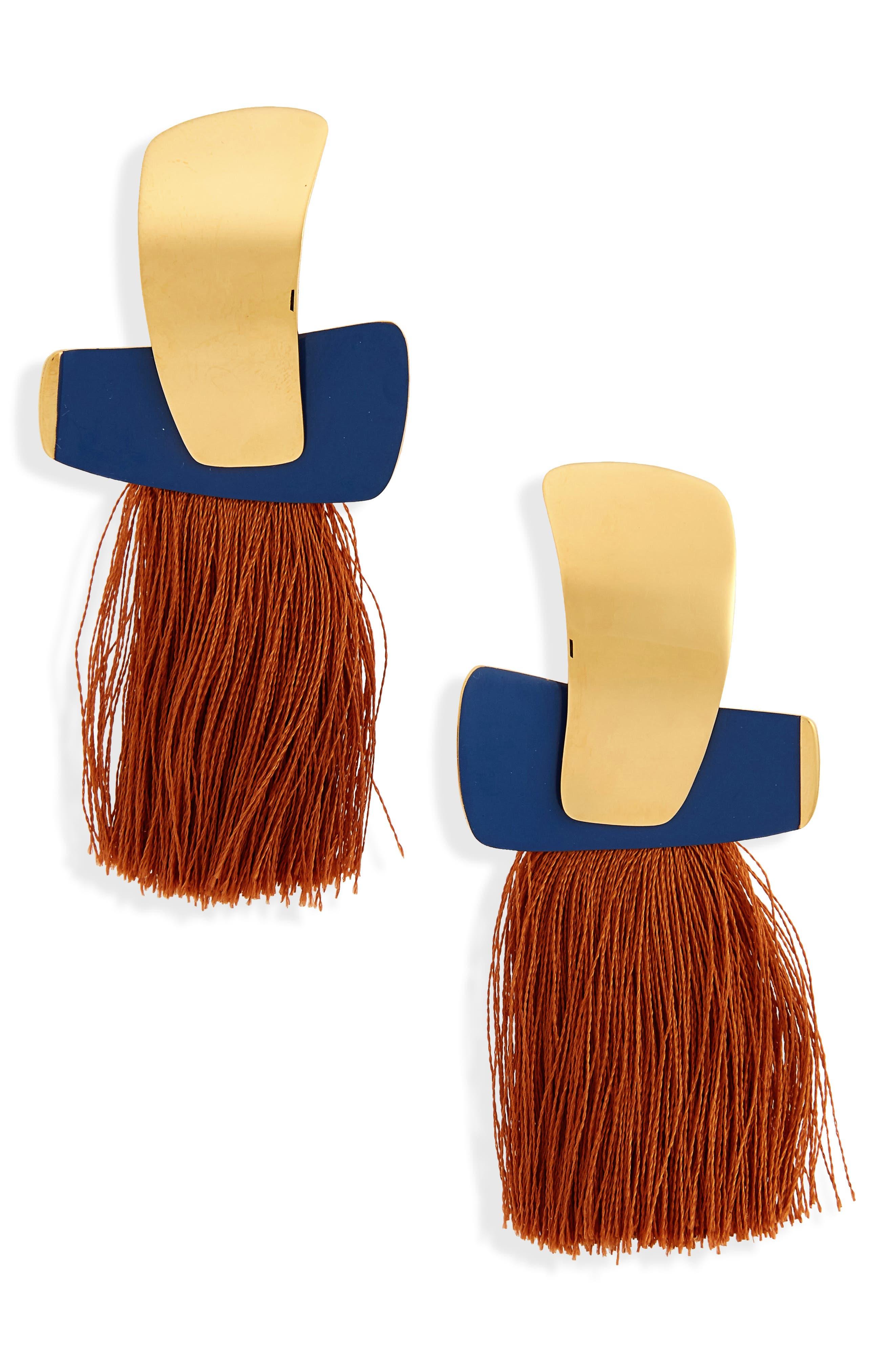 Totem Tassel Earrings,                             Main thumbnail 1, color,                             410