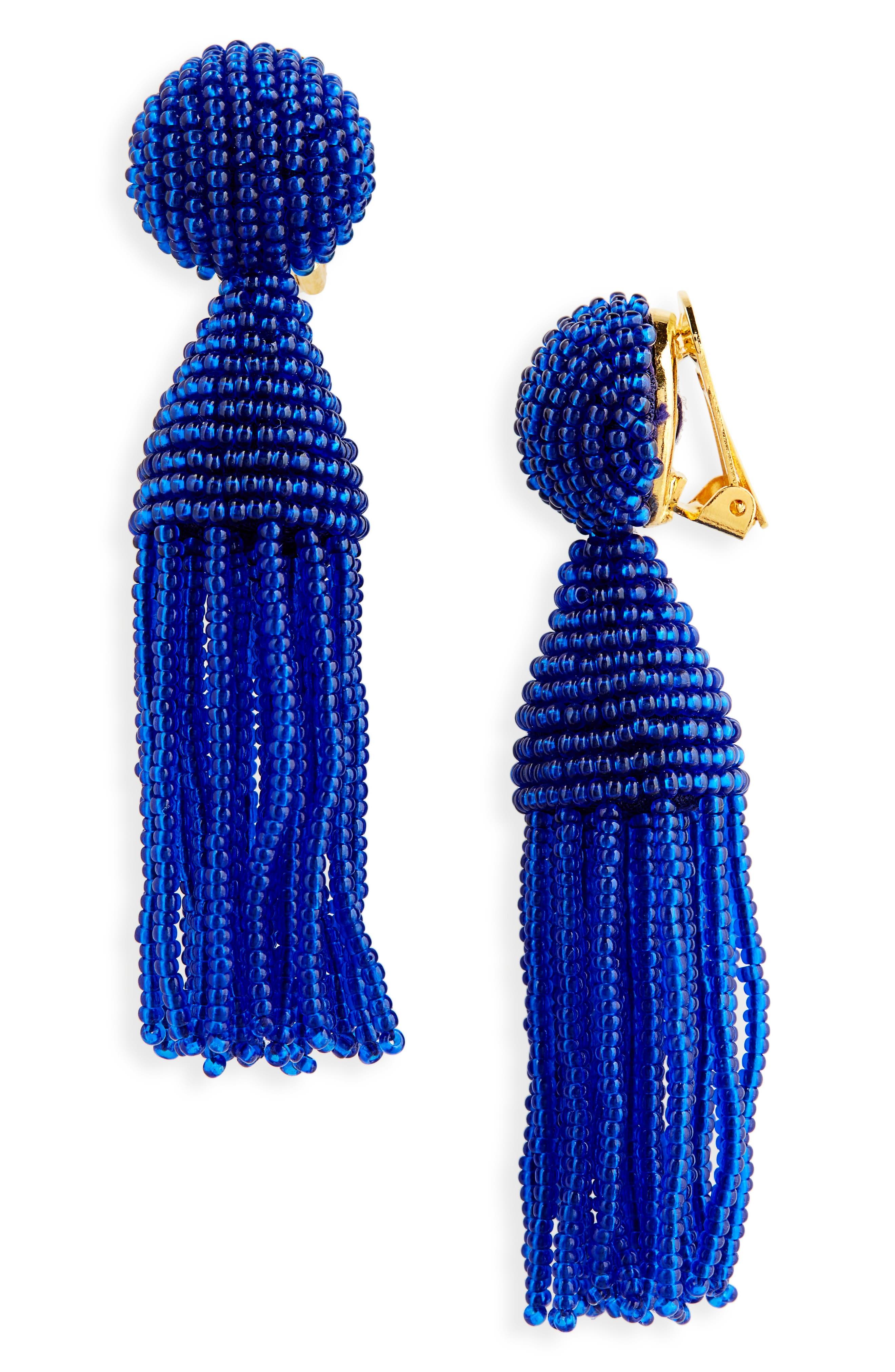 'Classic Short' Tassel Drop Clip Earrings,                             Main thumbnail 16, color,