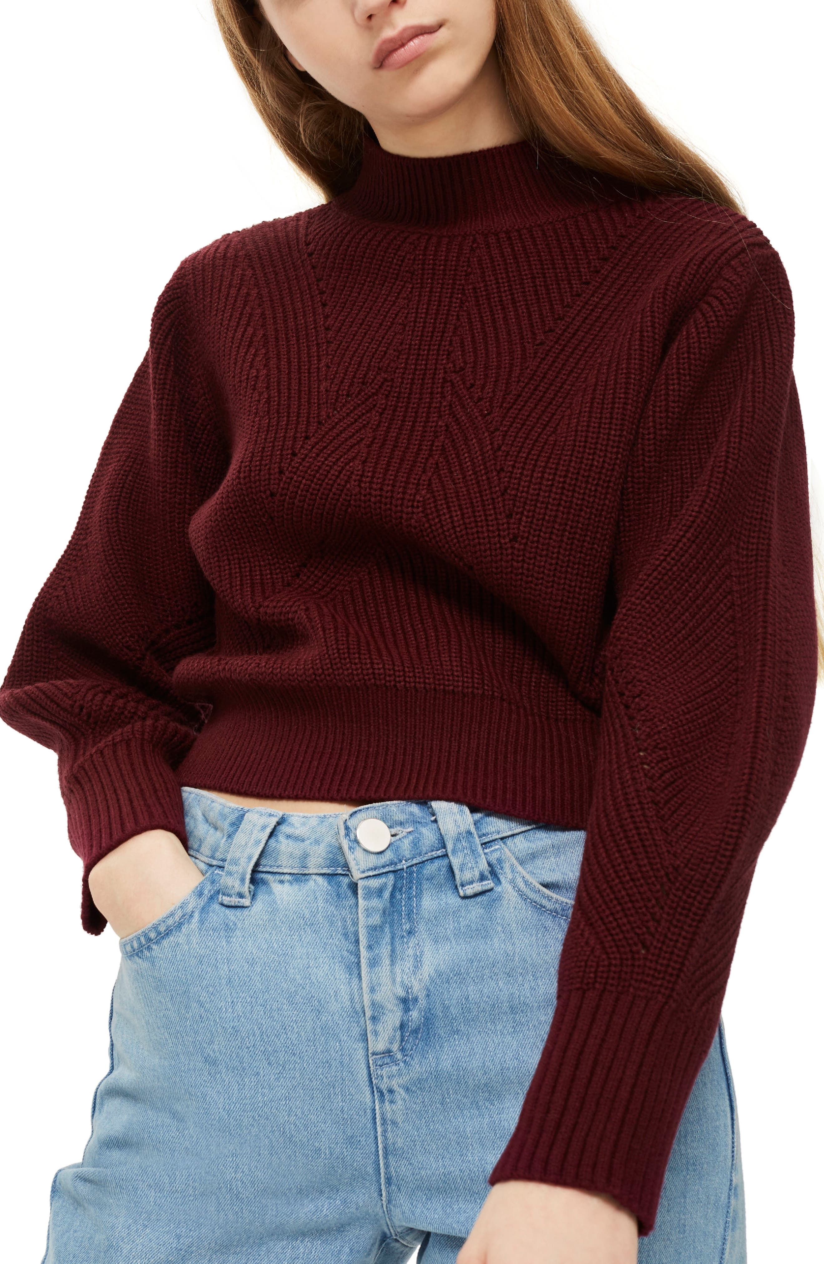 Lace-Up Back Sweater,                             Main thumbnail 1, color,                             640
