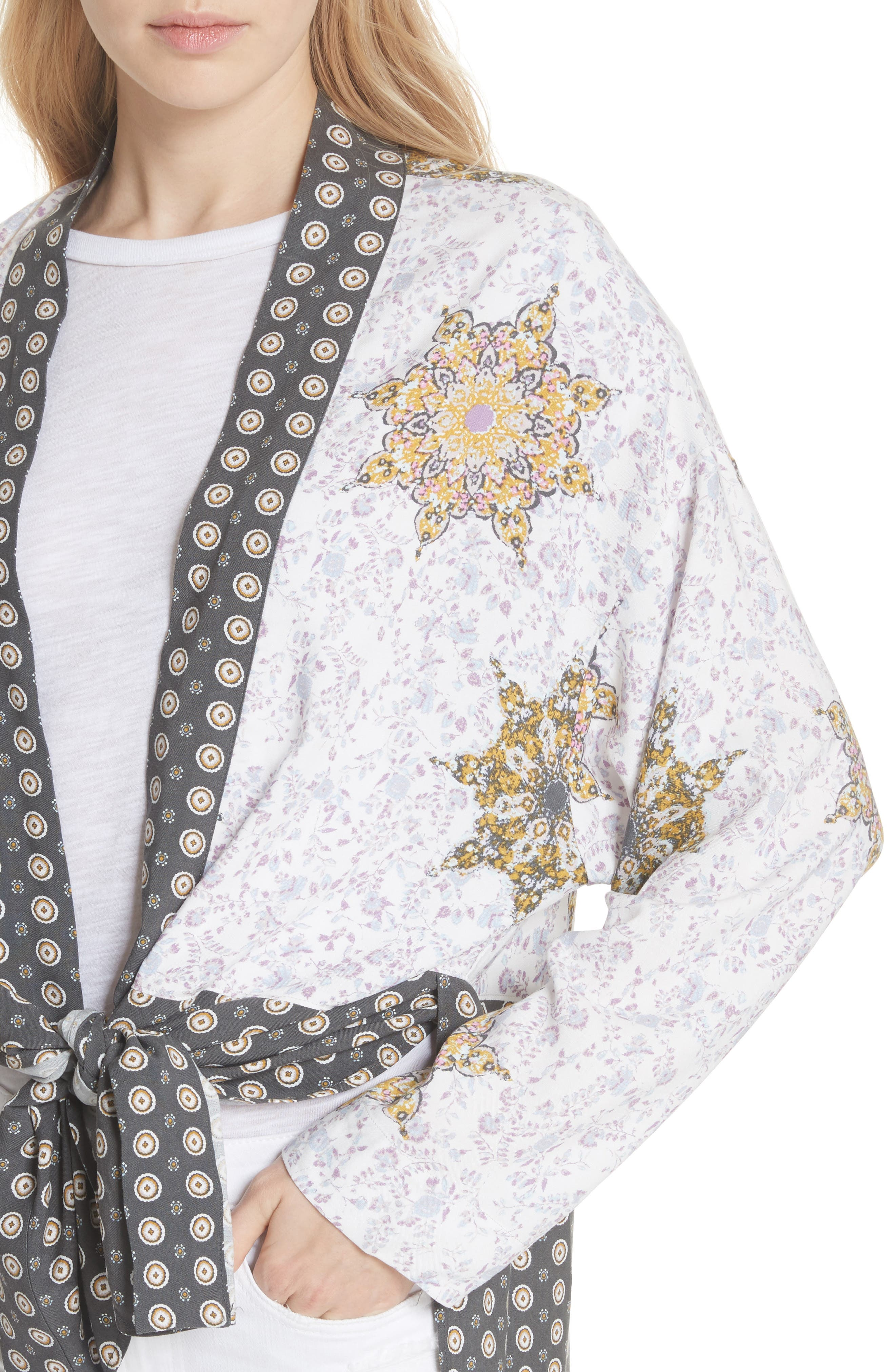 Forget Me Knot Tie Front Kimono,                             Alternate thumbnail 8, color,