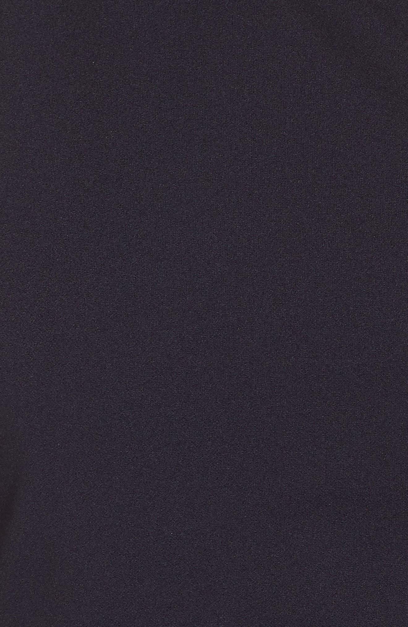 One-Shoulder Crepe Dress,                             Alternate thumbnail 6, color,                             NAVY
