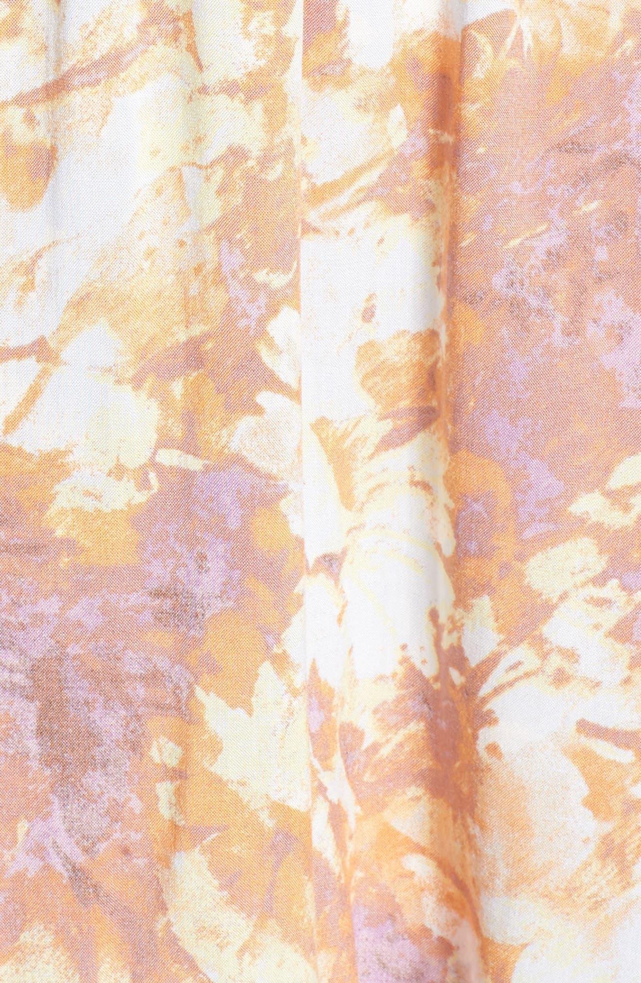 High/Low Hem Off the Shoulder Dress,                             Alternate thumbnail 5, color,