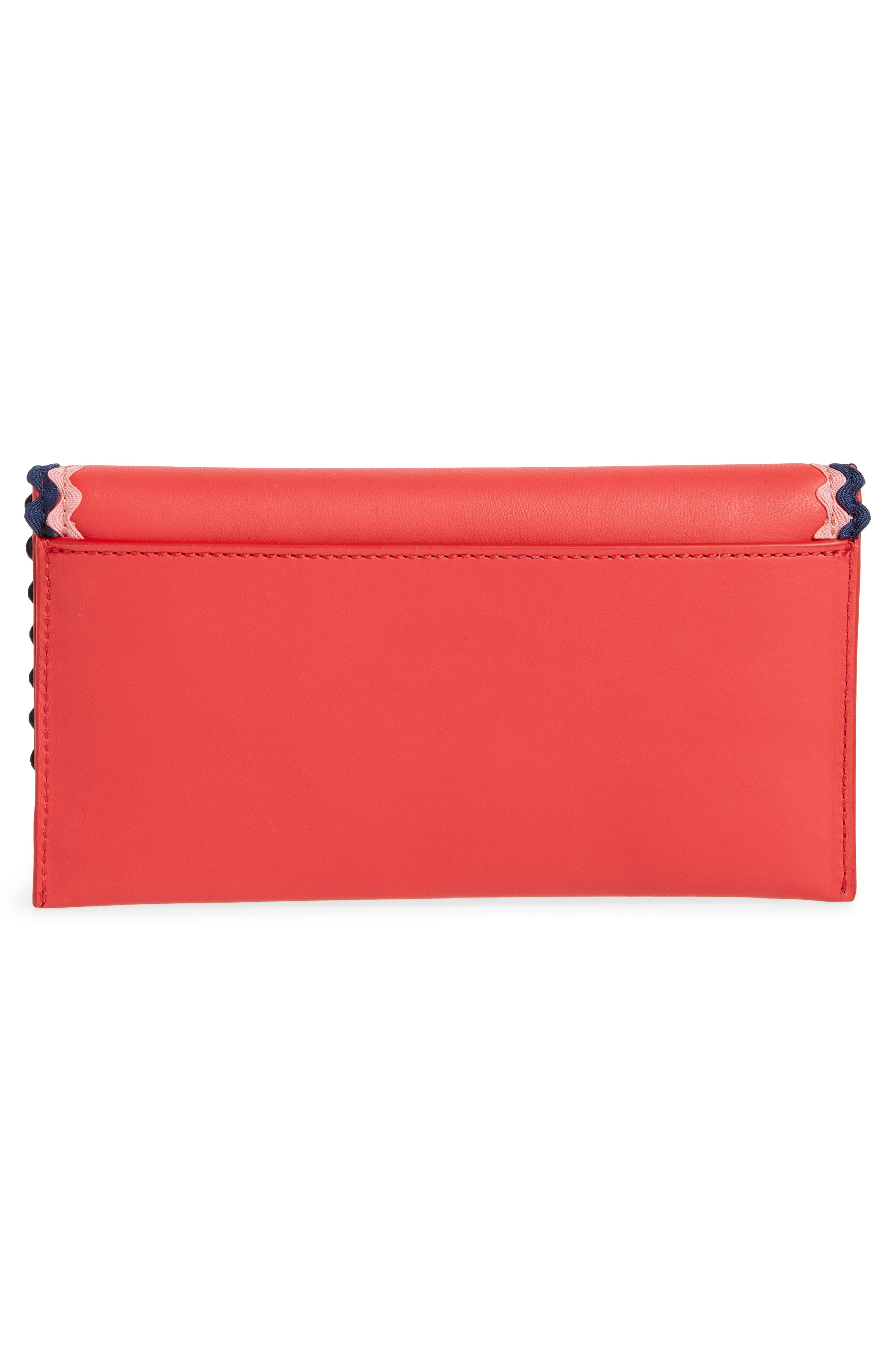 Everything Embellished Leather Wallet,                             Alternate thumbnail 4, color,                             620