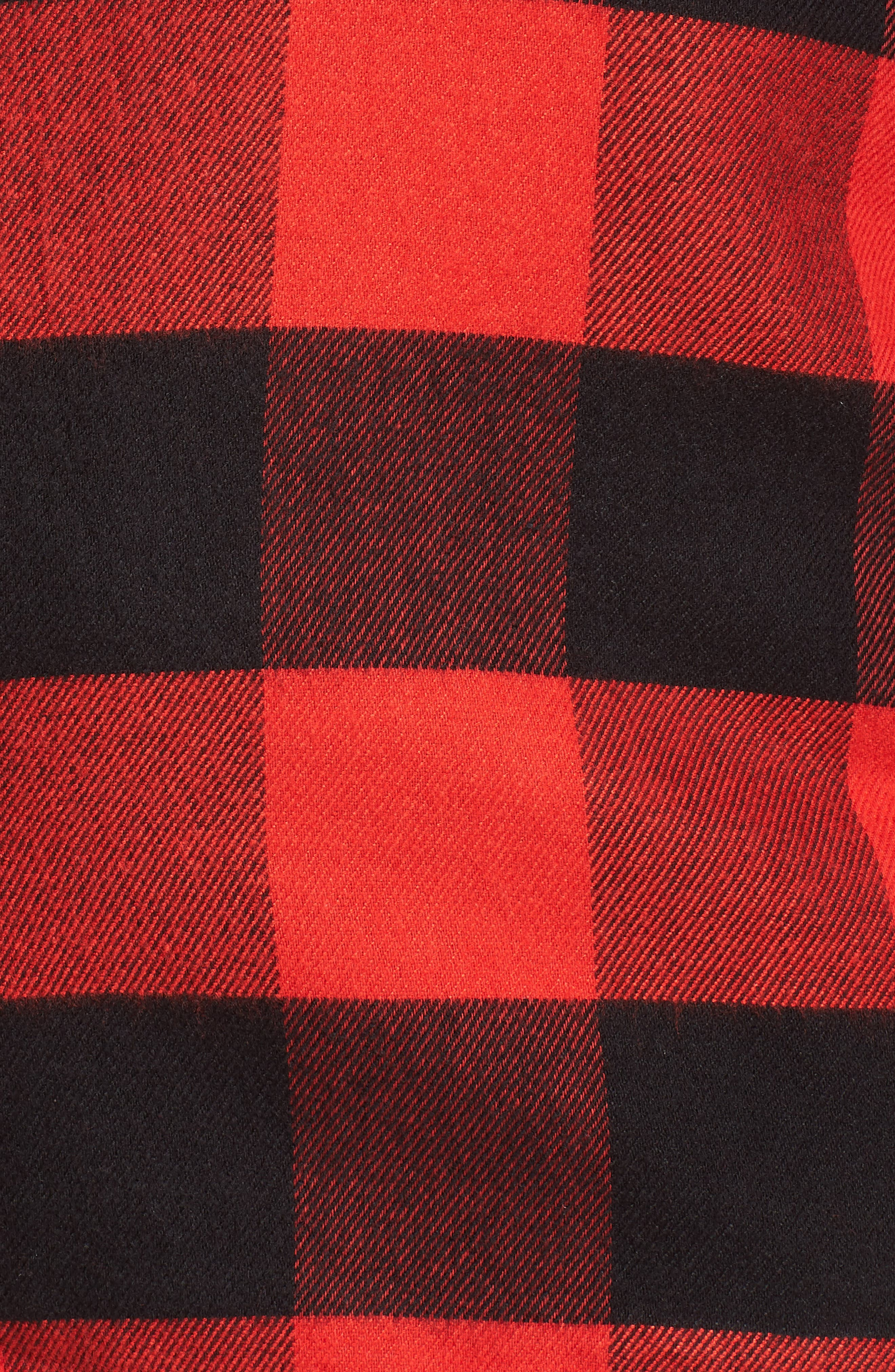 Starlight Plaid Flannel Pajamas,                             Alternate thumbnail 5, color,                             RED BLOOM LARGE BUFFALO CHECK
