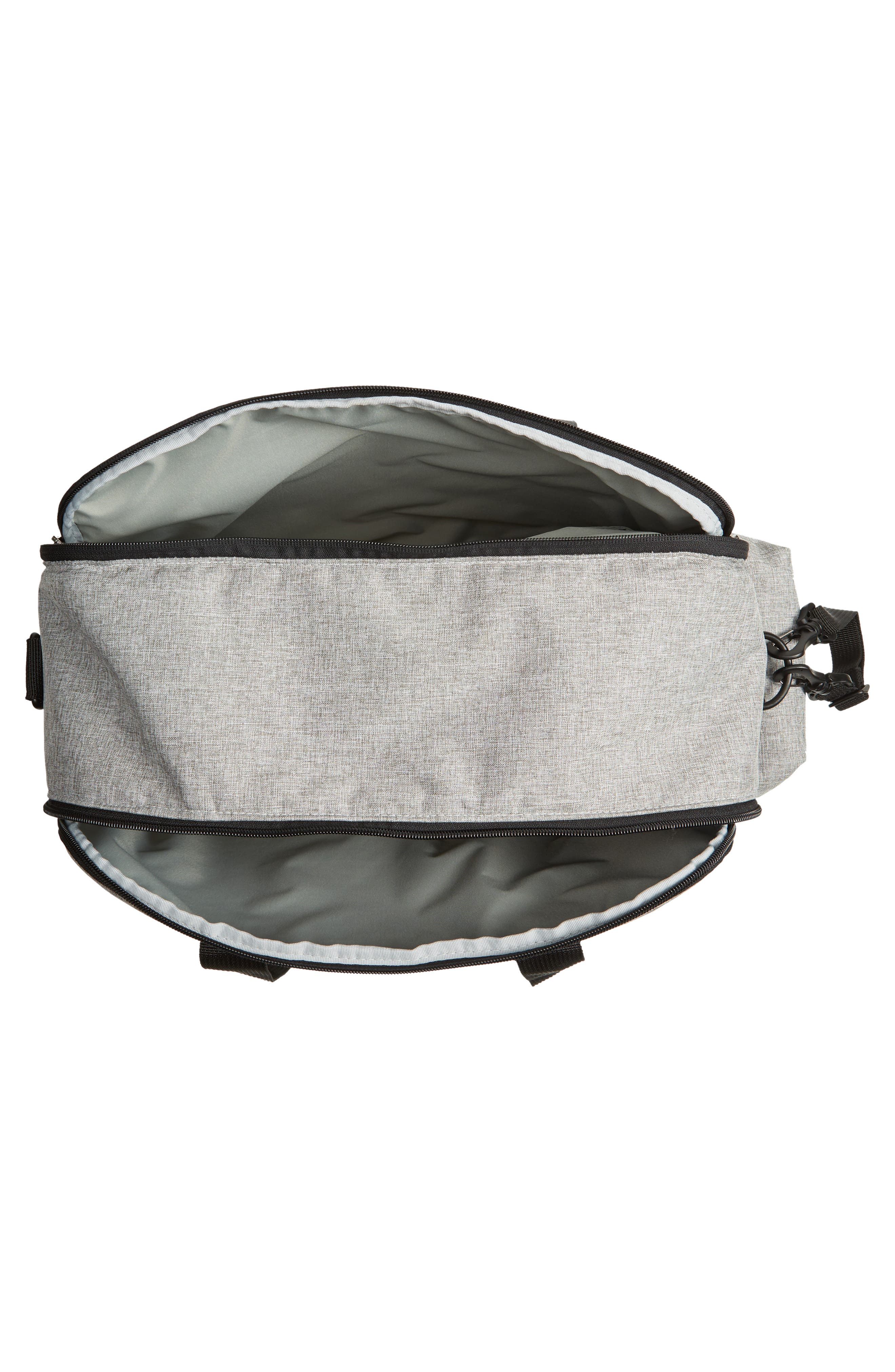 Duo Weekend Diaper Bag,                             Alternate thumbnail 4, color,                             GREY