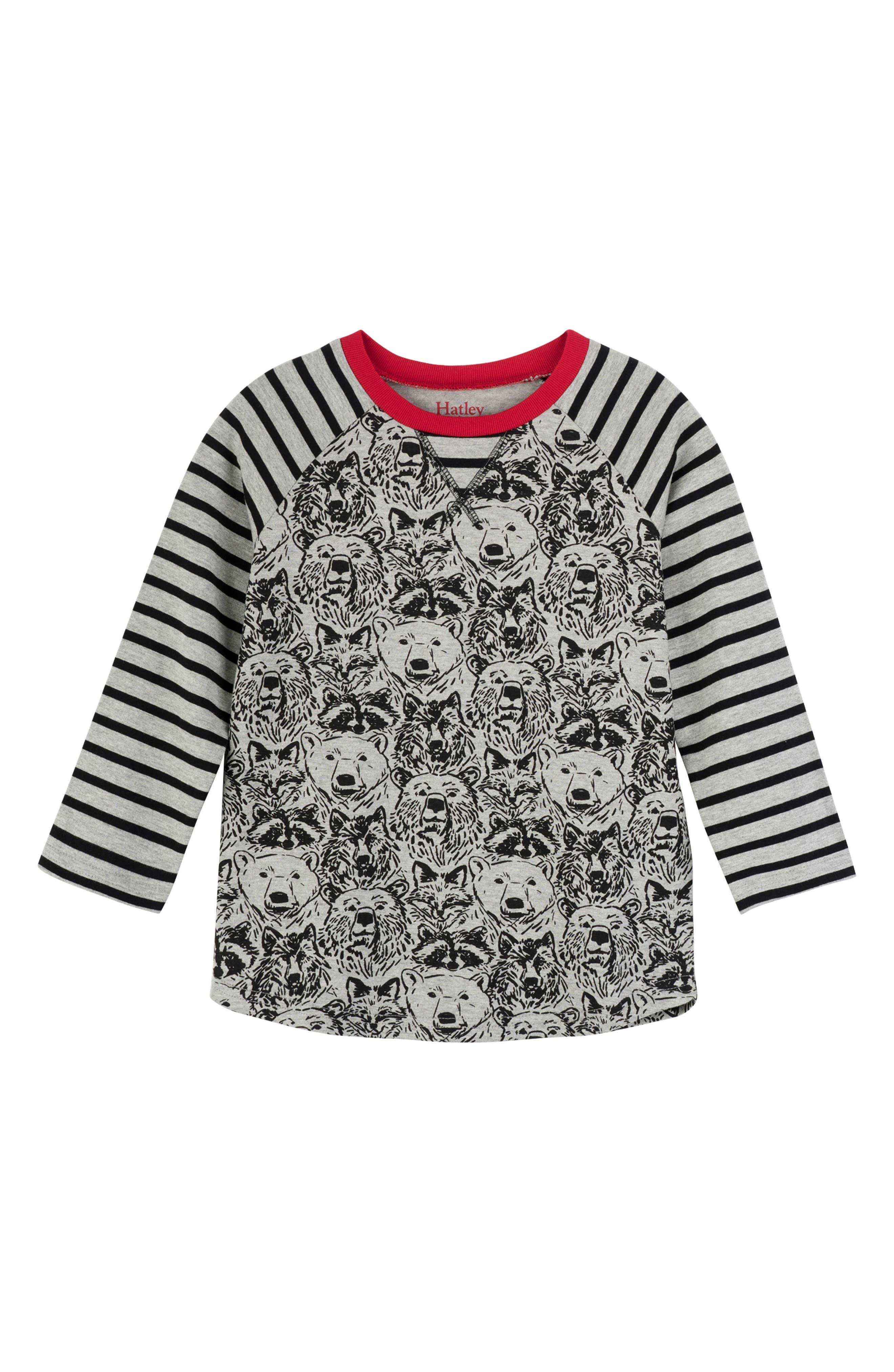 Boys Hatley Print Raglan Sleeve Shirt