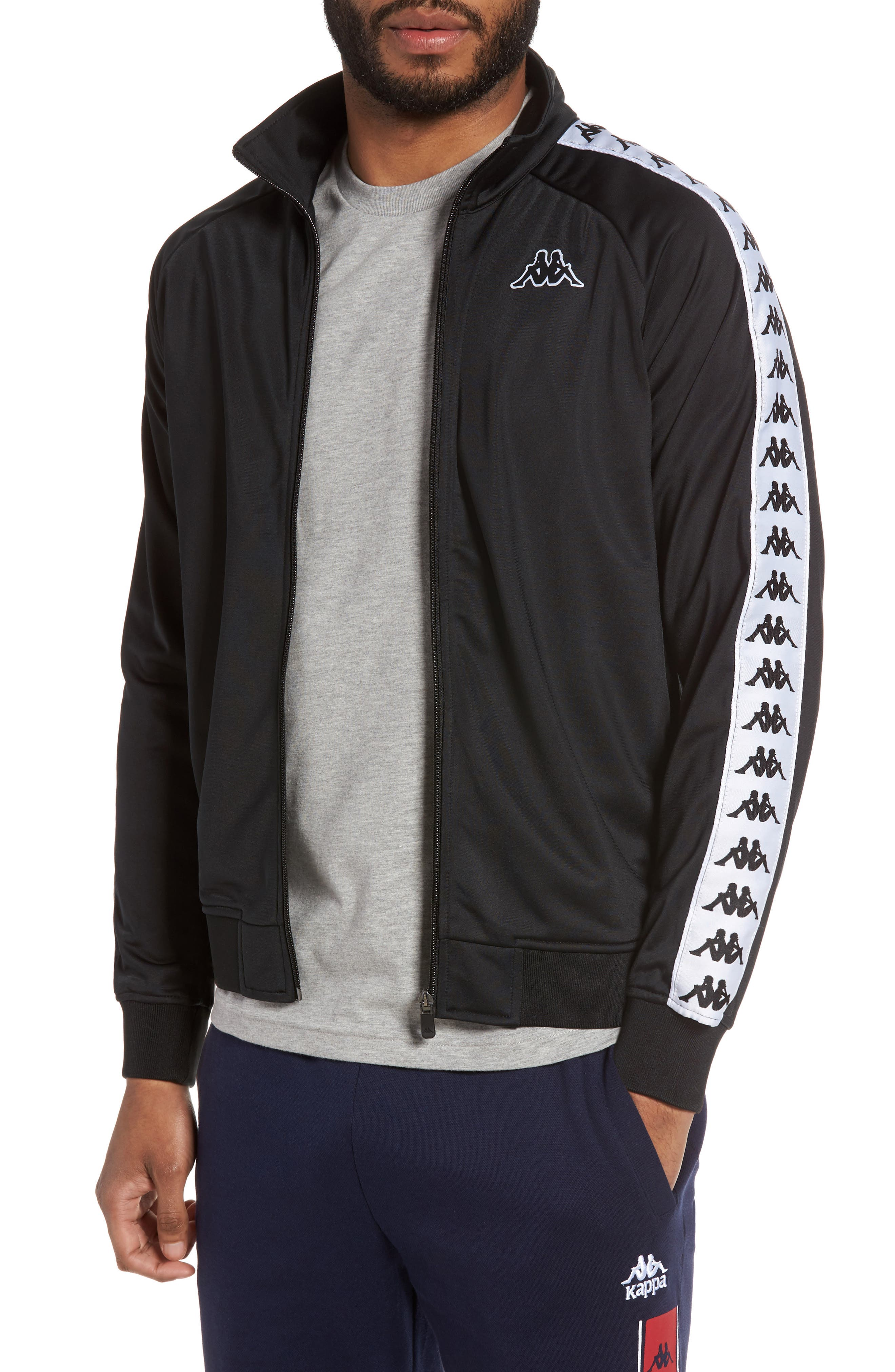 Anniston Slim Fit Knit Track Jacket, Main, color, 001