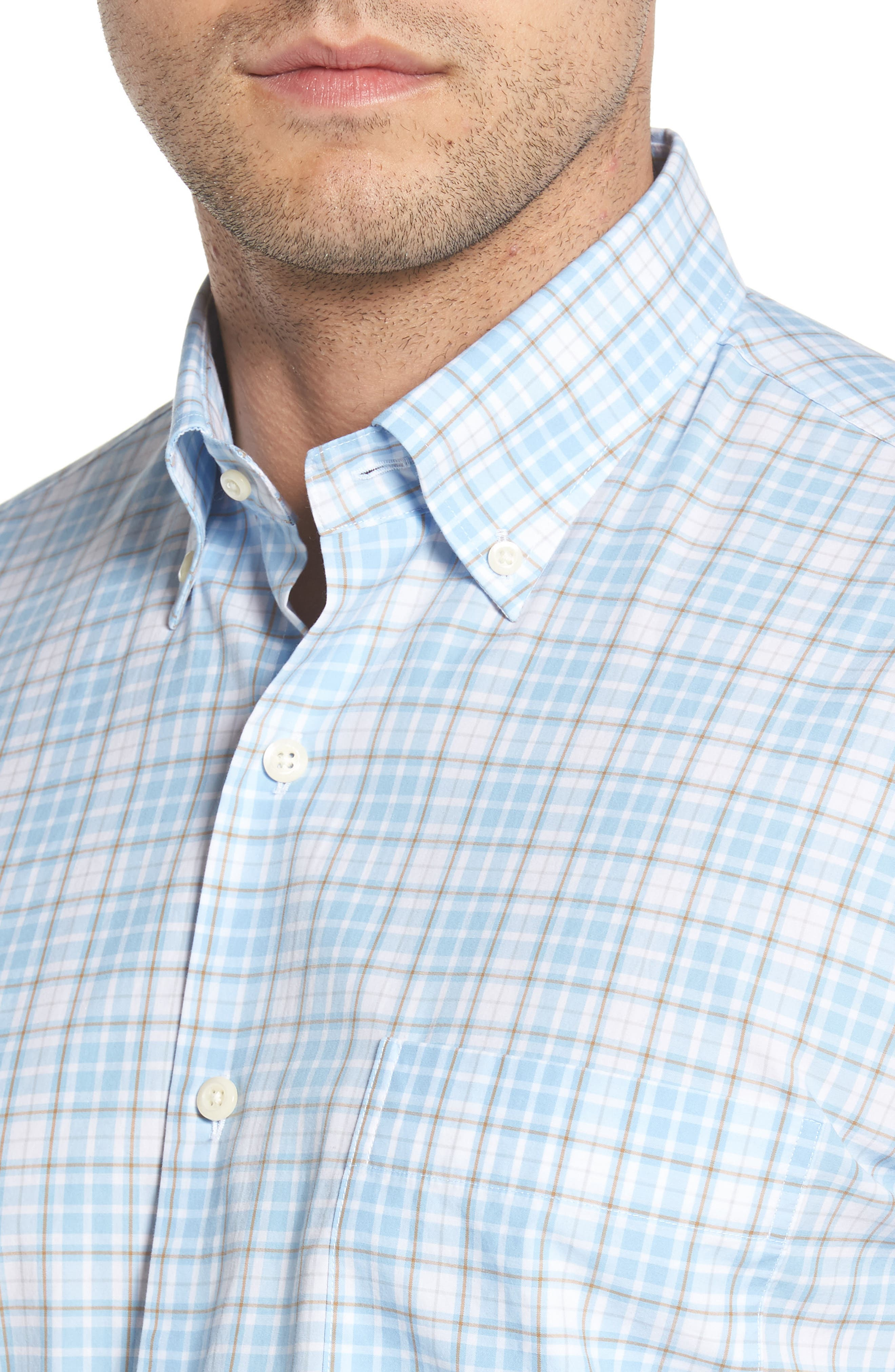 PETER MILLAR,                             Belltown Regular Fit Tartan Sport Shirt,                             Alternate thumbnail 4, color,                             400