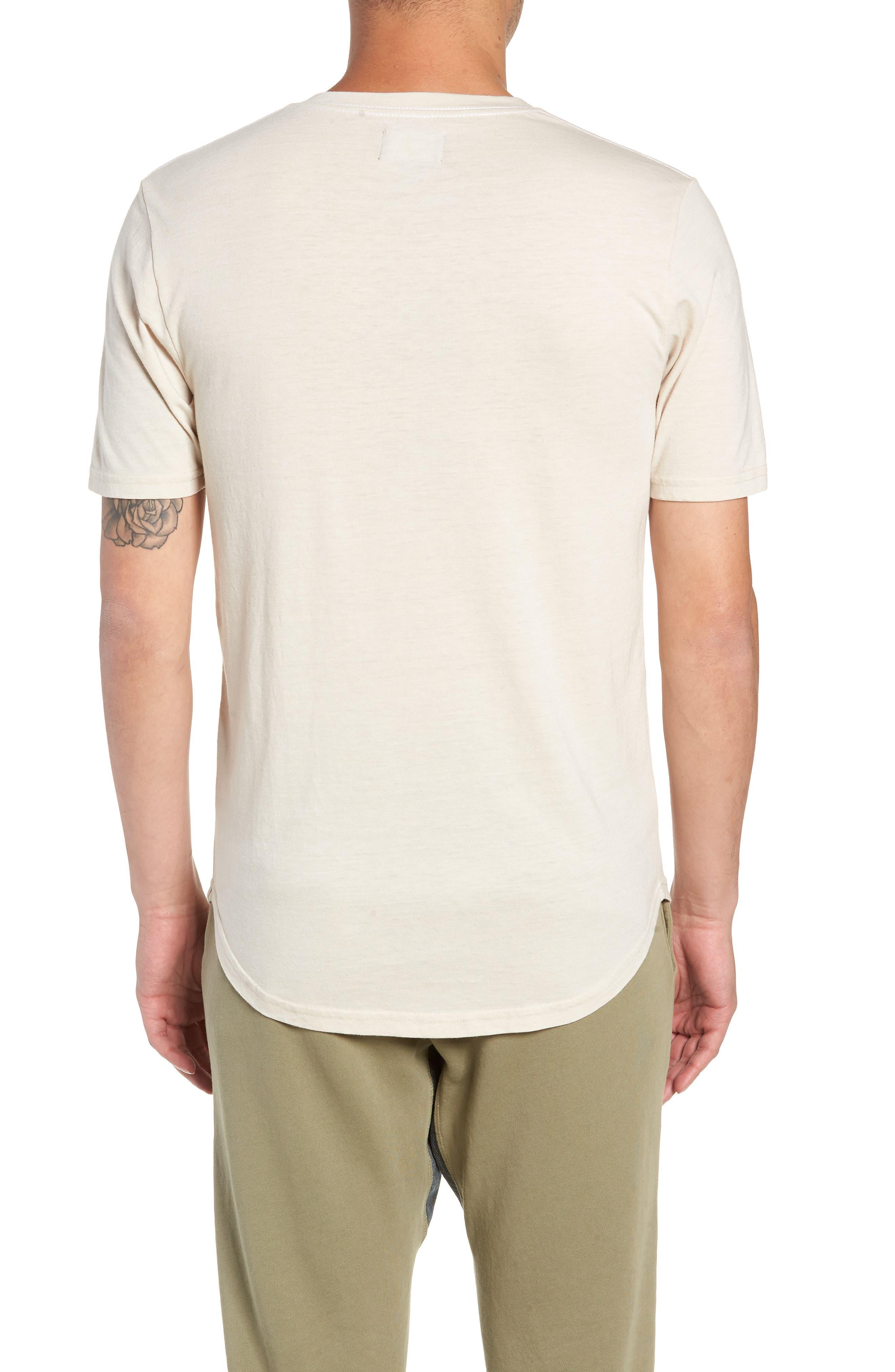 Scallop Triblend V-Neck T-Shirt,                             Alternate thumbnail 2, color,                             OYSTER