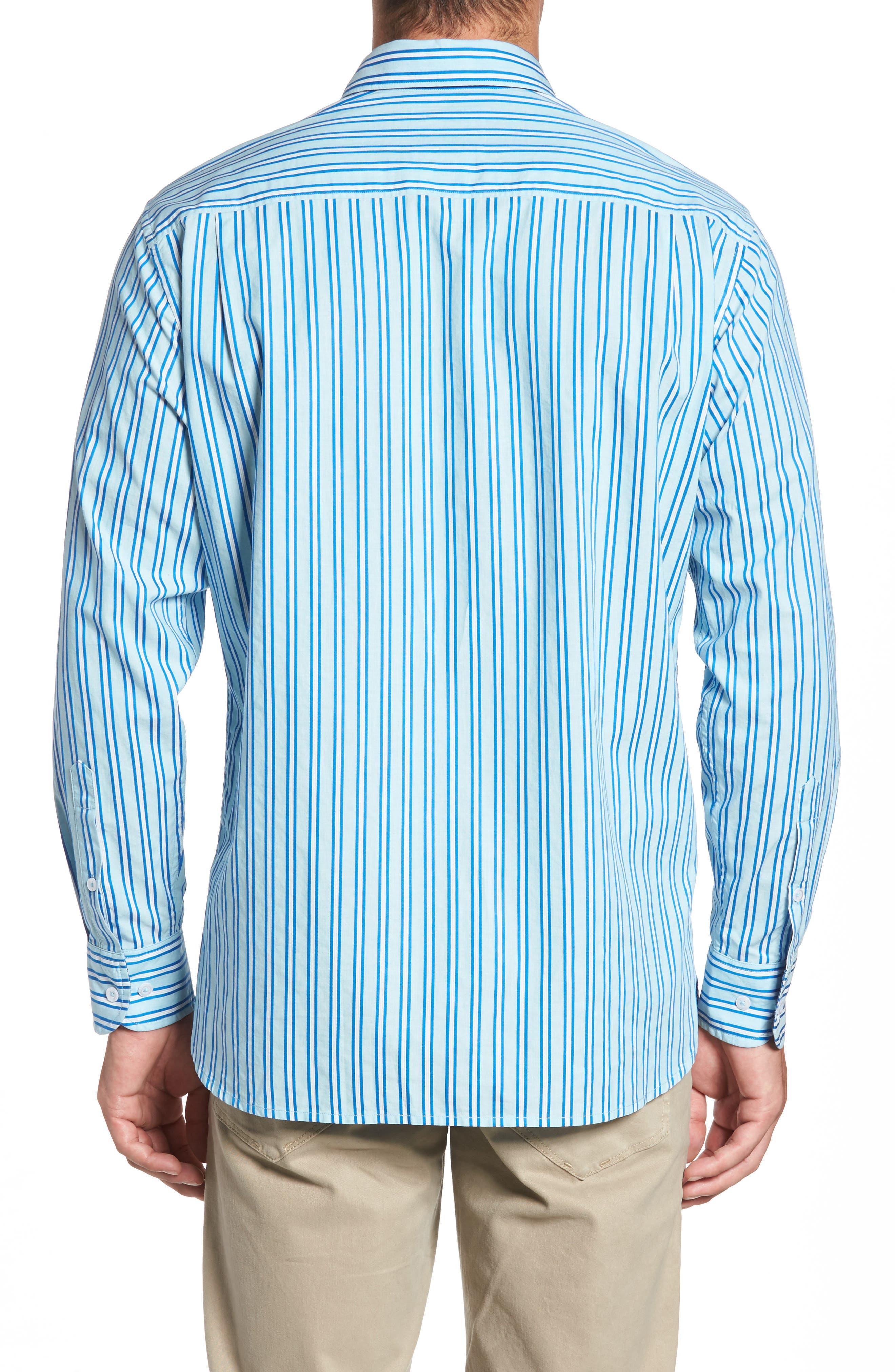 Surf the Line Stripe Sport Shirt,                             Alternate thumbnail 2, color,                             400