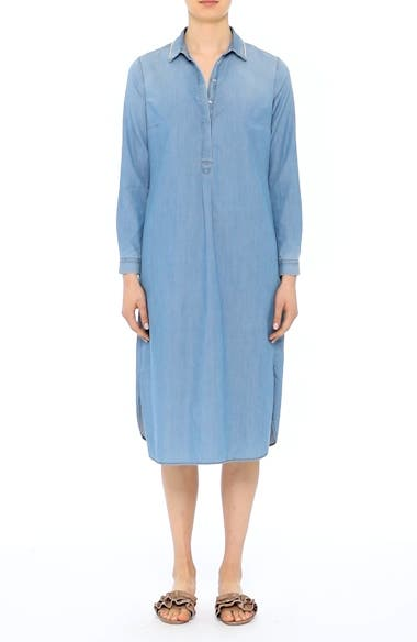 Cotton & Cashmere Chambray Shirtdress, video thumbnail