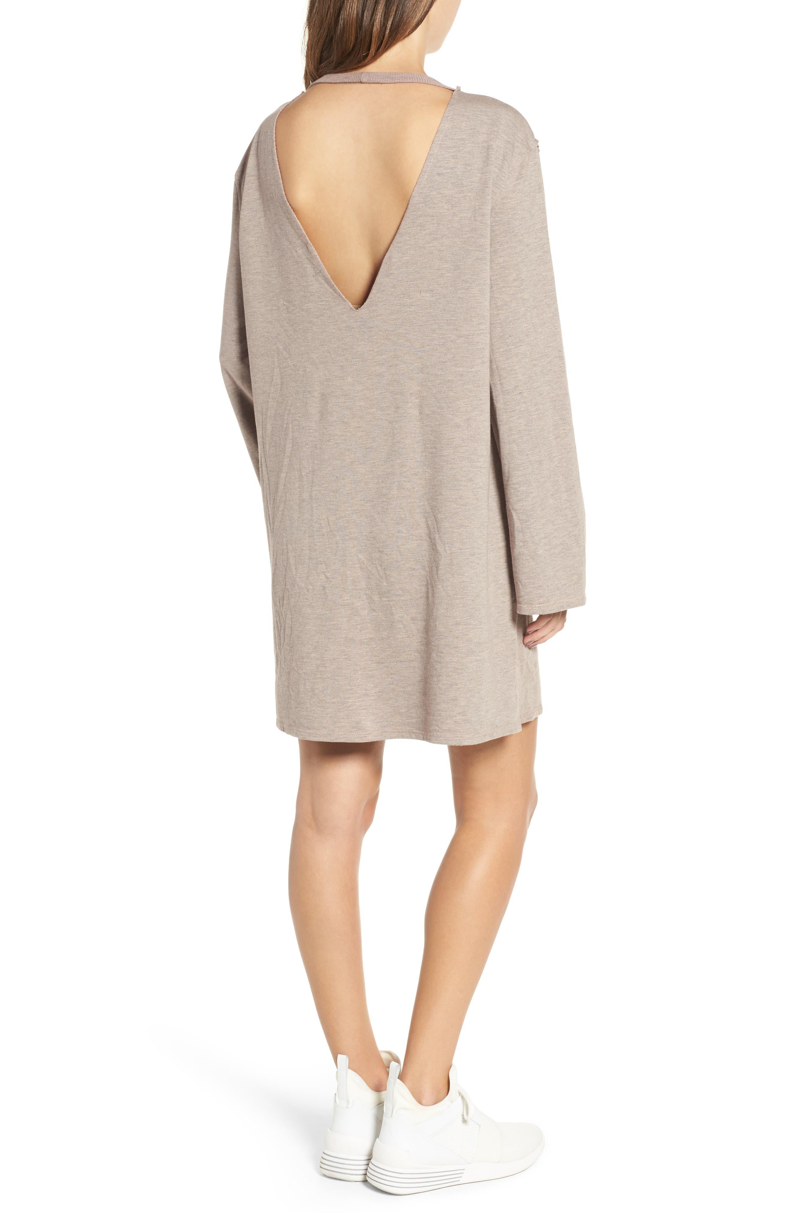 Low Back Sweatshirt Dress,                             Alternate thumbnail 2, color,                             650