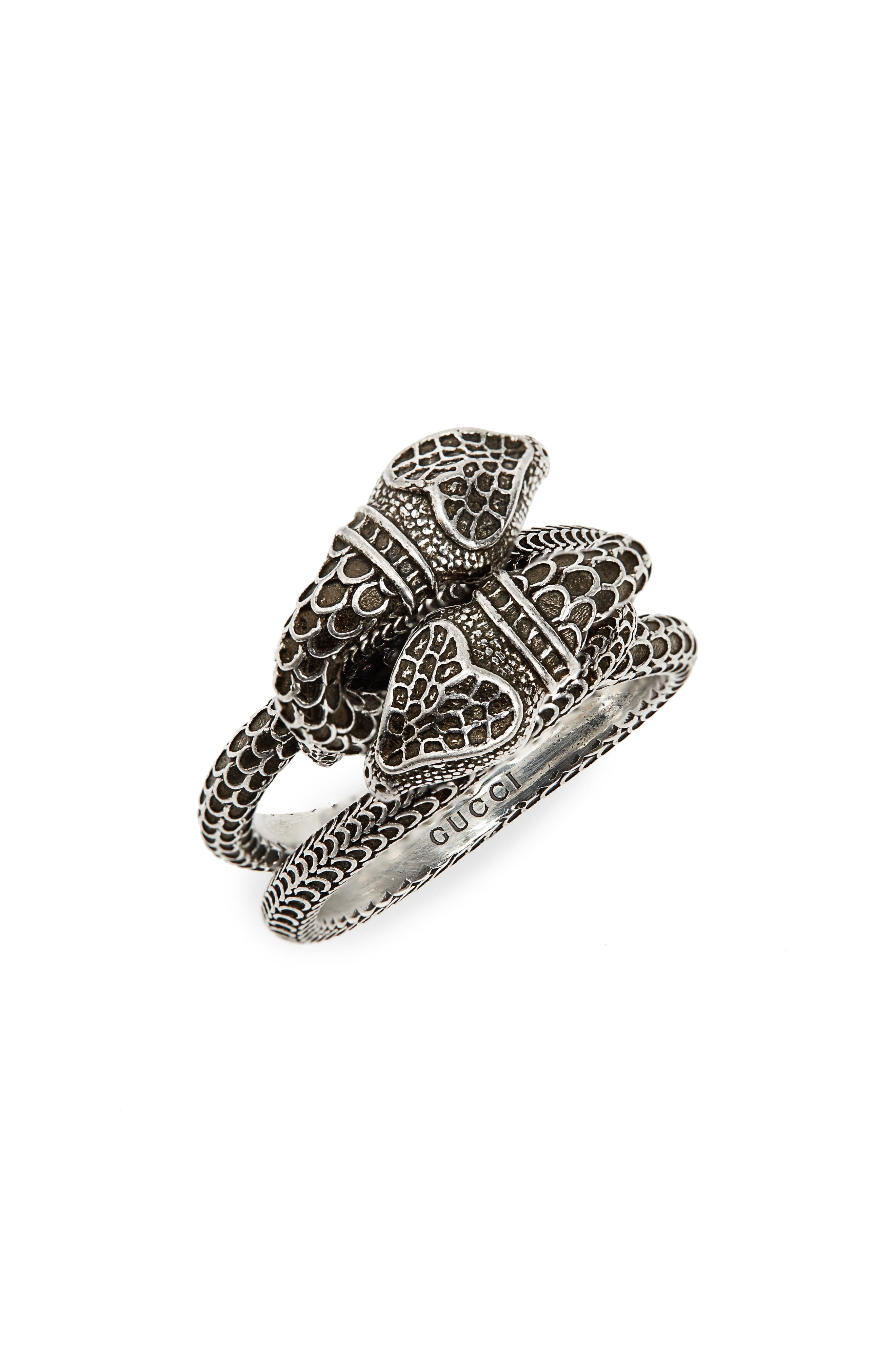 GUCCI Snake Ring, Main, color, 040